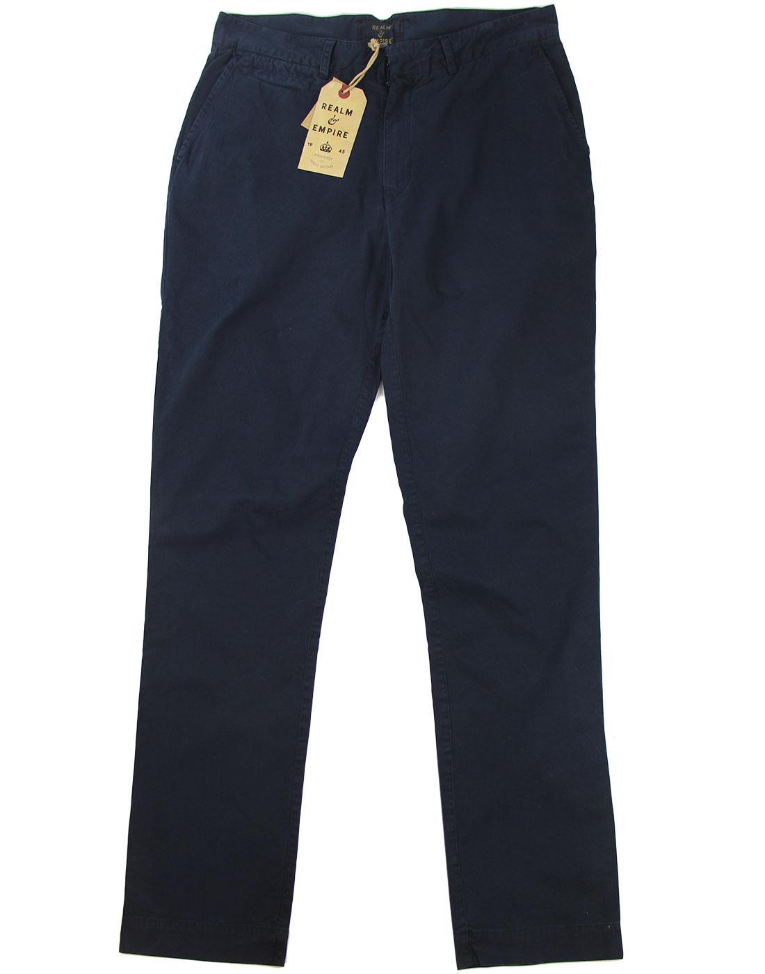 Tain REALM & EMPIRE Retro Slim Fit Chino Trousers