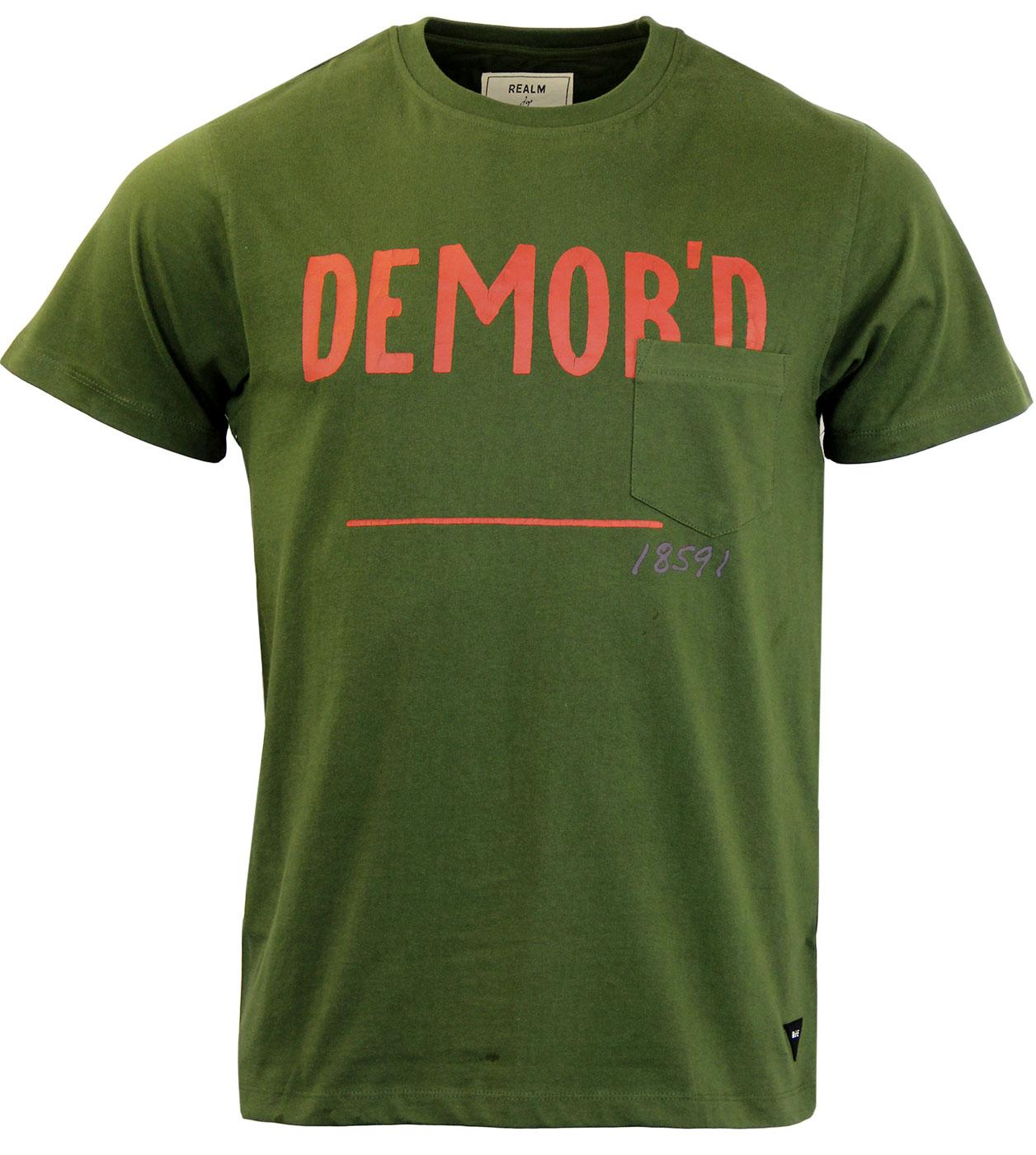 REALM & EMPIRE Retro Military Demob Crew T-shirt