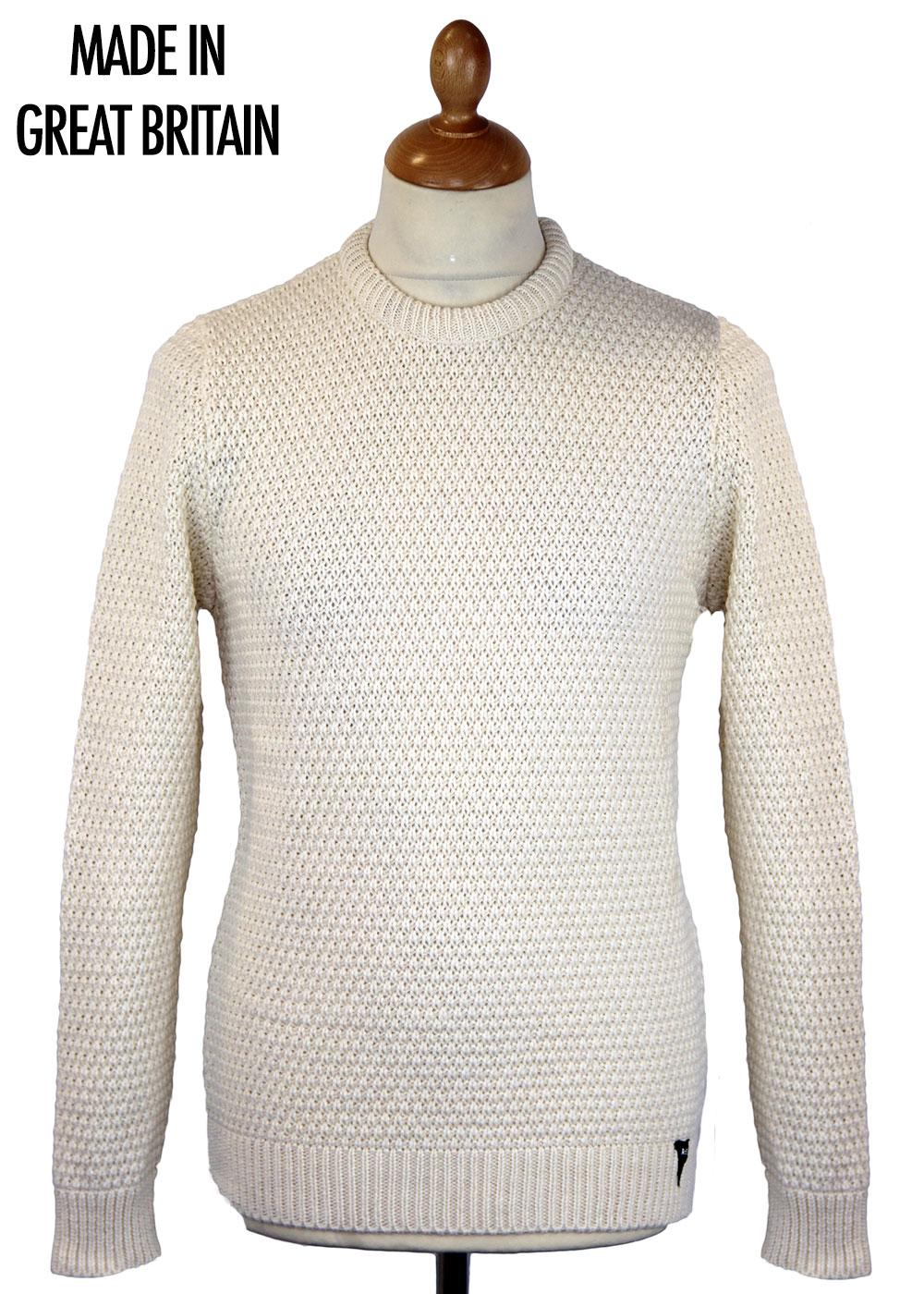 REALM & EMPIRE Made in England Moss Stitch Crew E