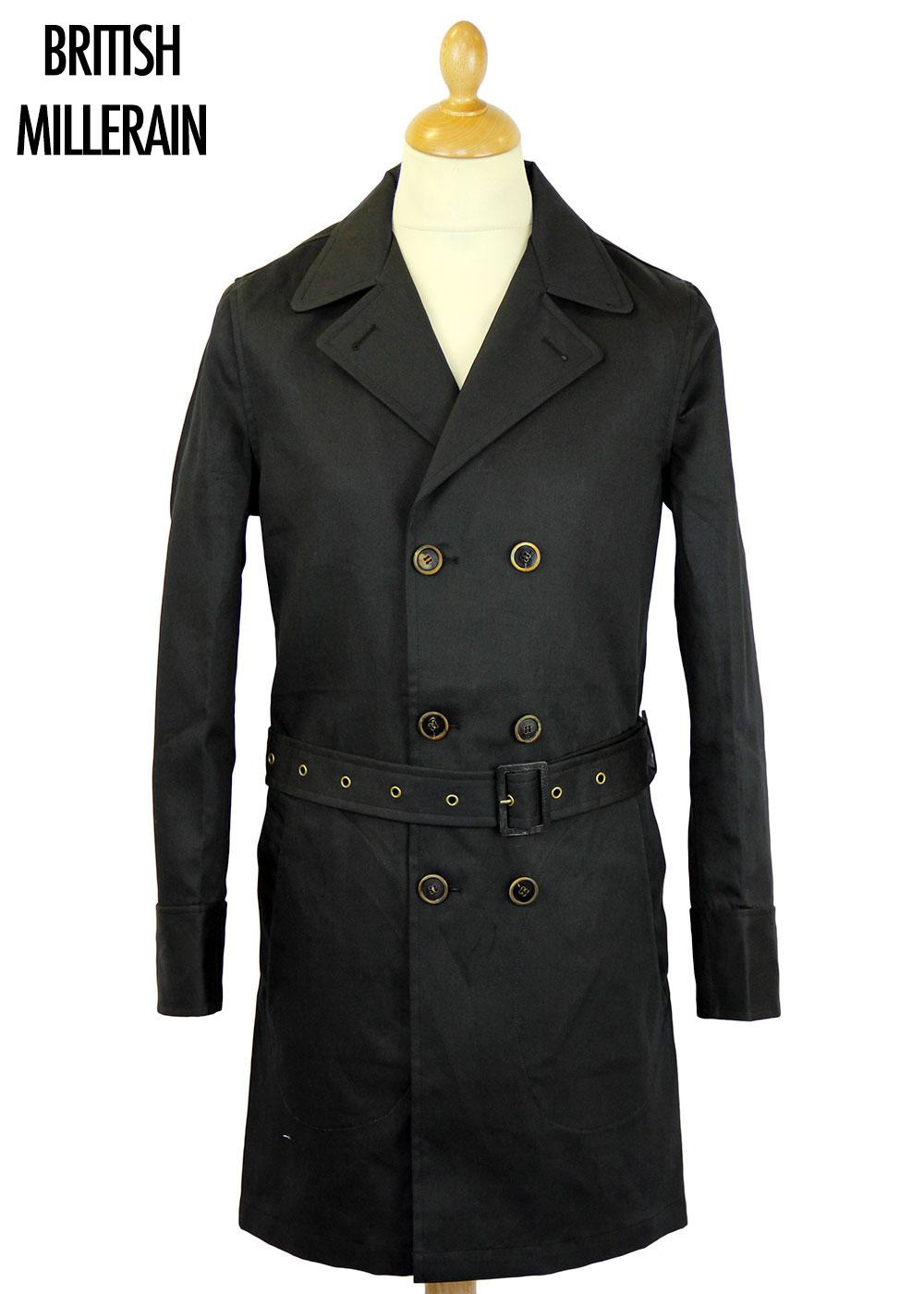 REALM & EMPIRE Retro Mod Officer Trench Coat (Bl)