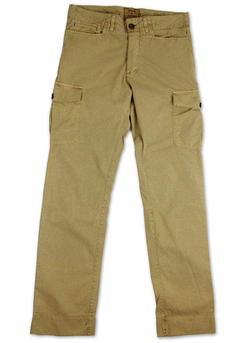REALM & EMPIRE Retro Cotton Twill Cargo Trousers