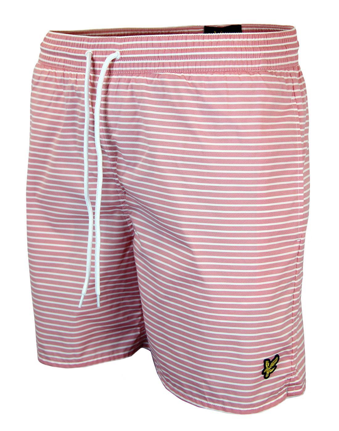 LYLE & SCOTT Retro Mod Stripe Nylon Swim Shorts R
