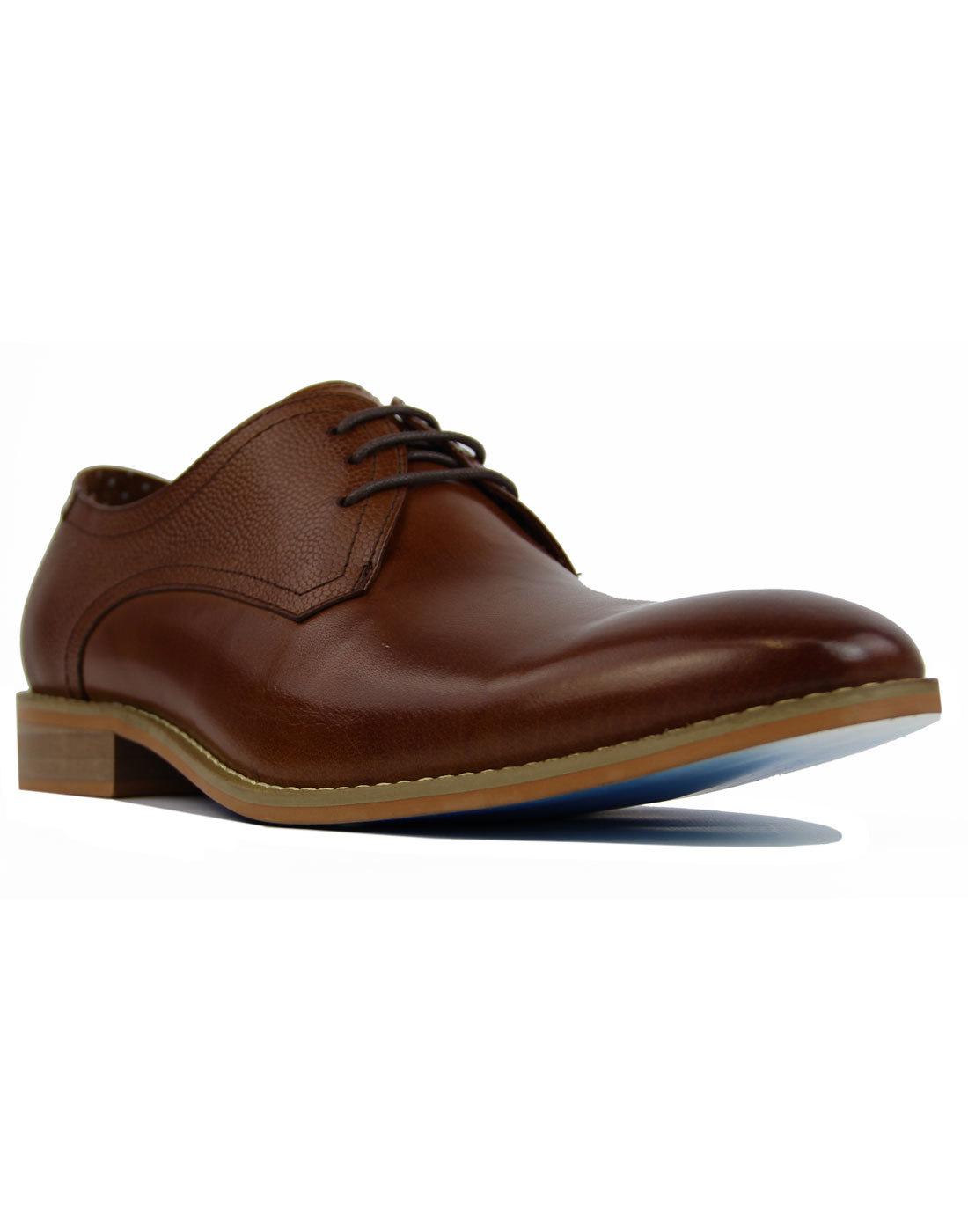 Renon Lace PAOLO VANDINI Retro Derby Shoes In Tan