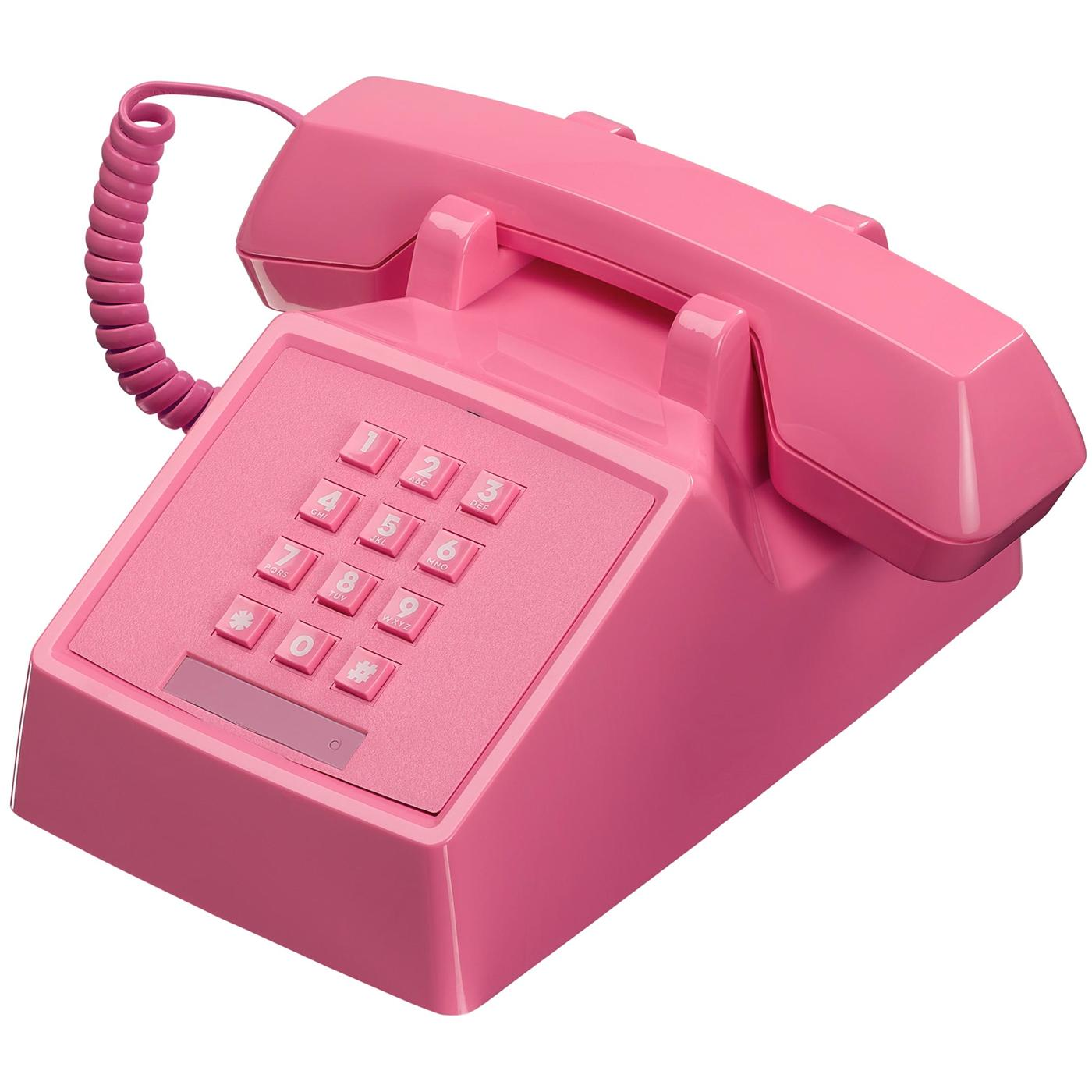 2500 Phone Retro 80s Vintage Telephone in Flamingo