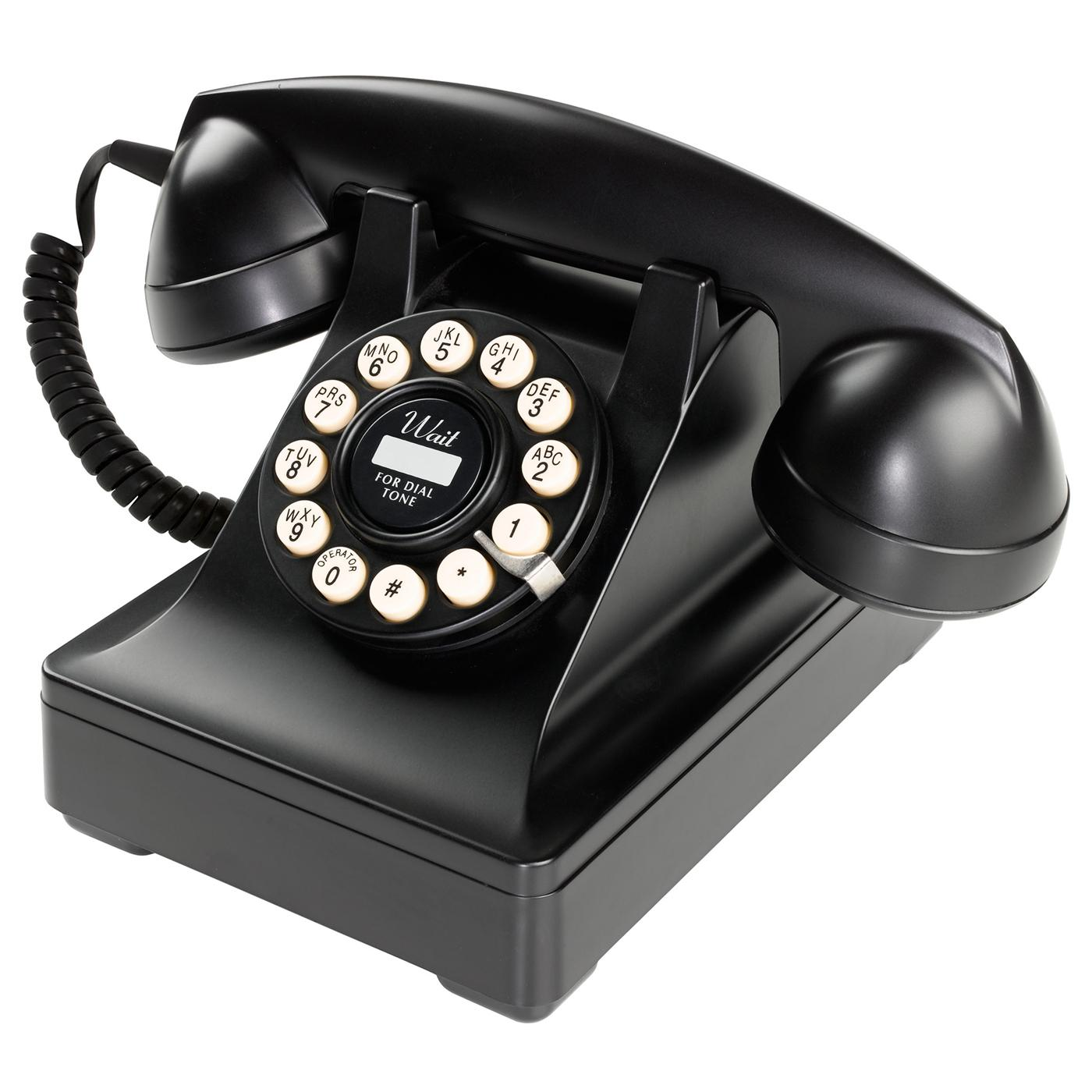 Series 302 Retro Sixties Mod Black Telephone