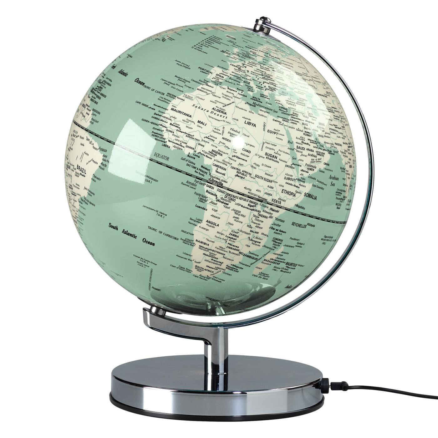 WILD & WOLF Retro Illuminated Globe Lamp - Green