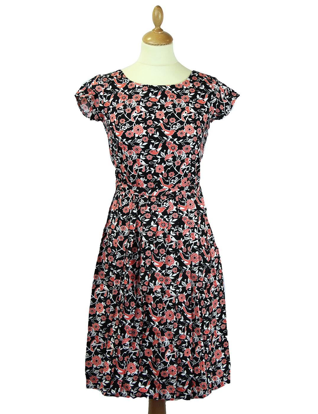 Love Birds Retro 1950s Vintage Summer Tea Dress