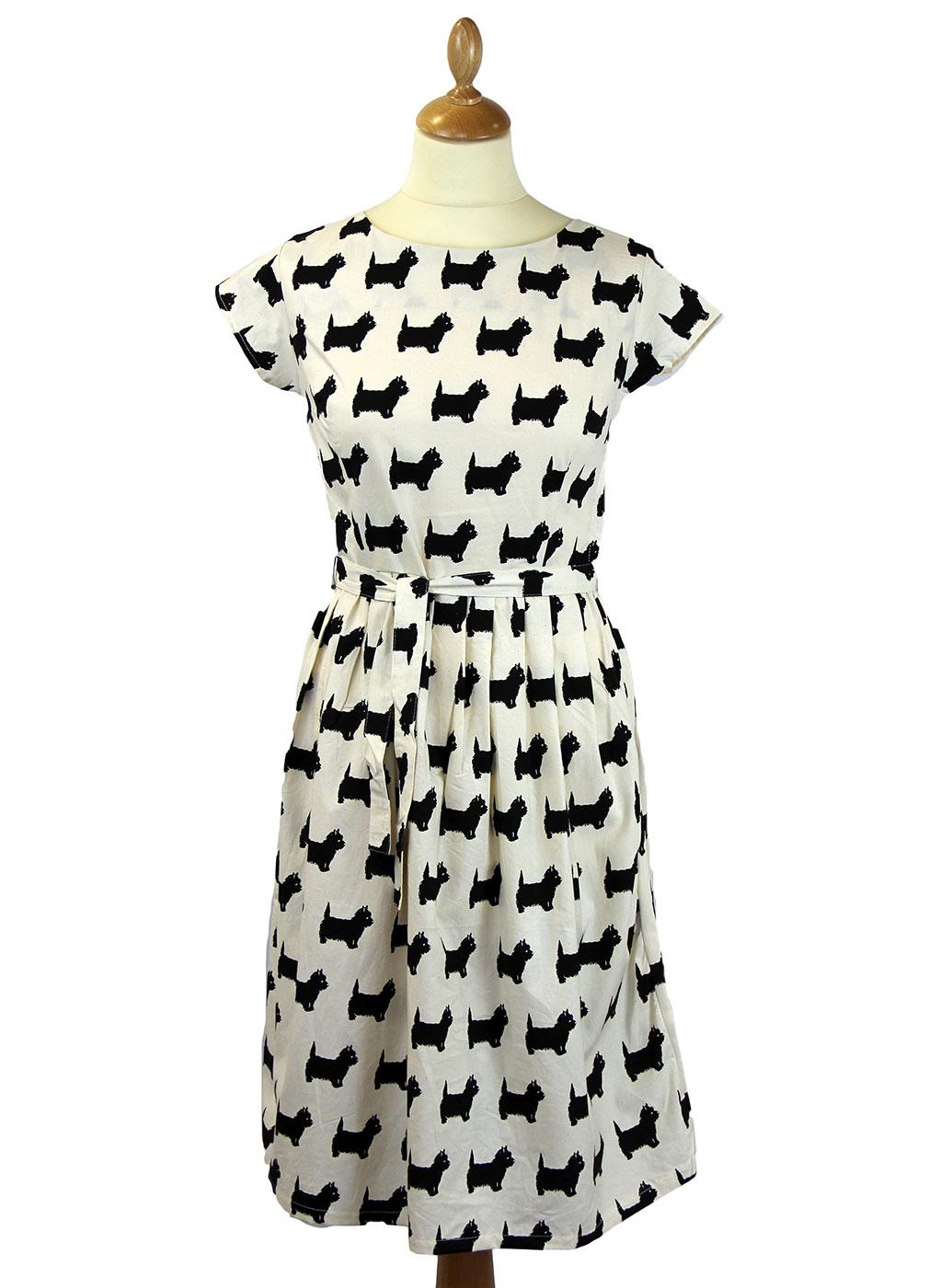 Scottie Dog Retro 1950s Vintage Summer Tea Dress