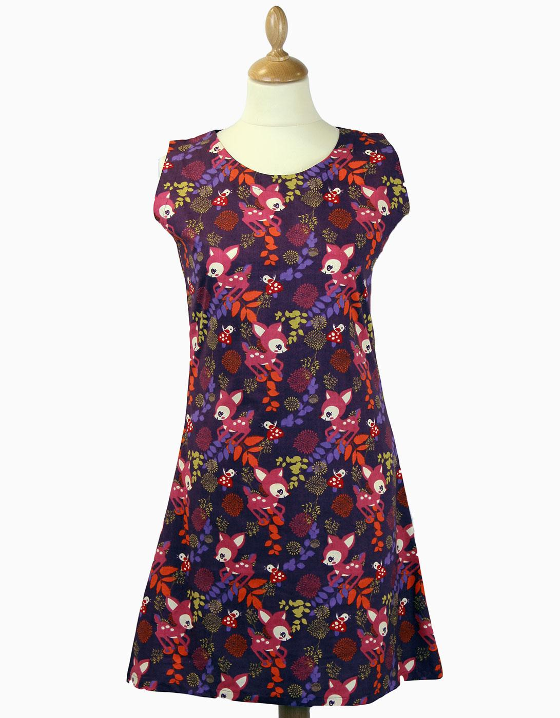 Woodland Trip Retro 60s Vintage Summer Shift Dress
