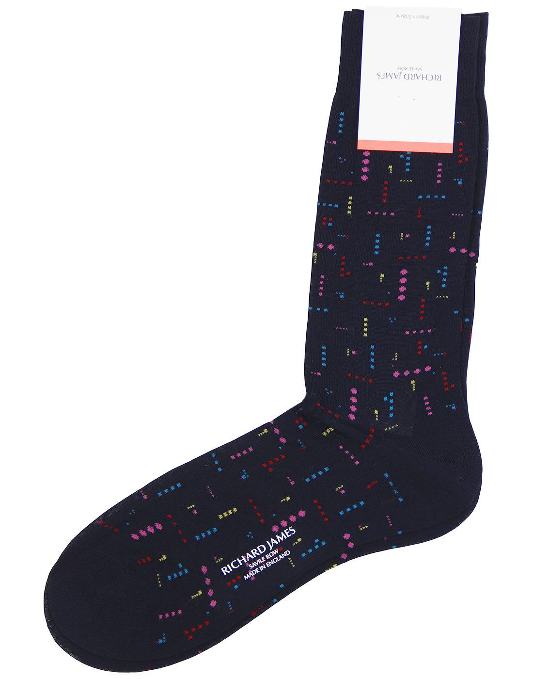 + Delirio RICHARD JAMES Retro 80s Micro Dash Socks