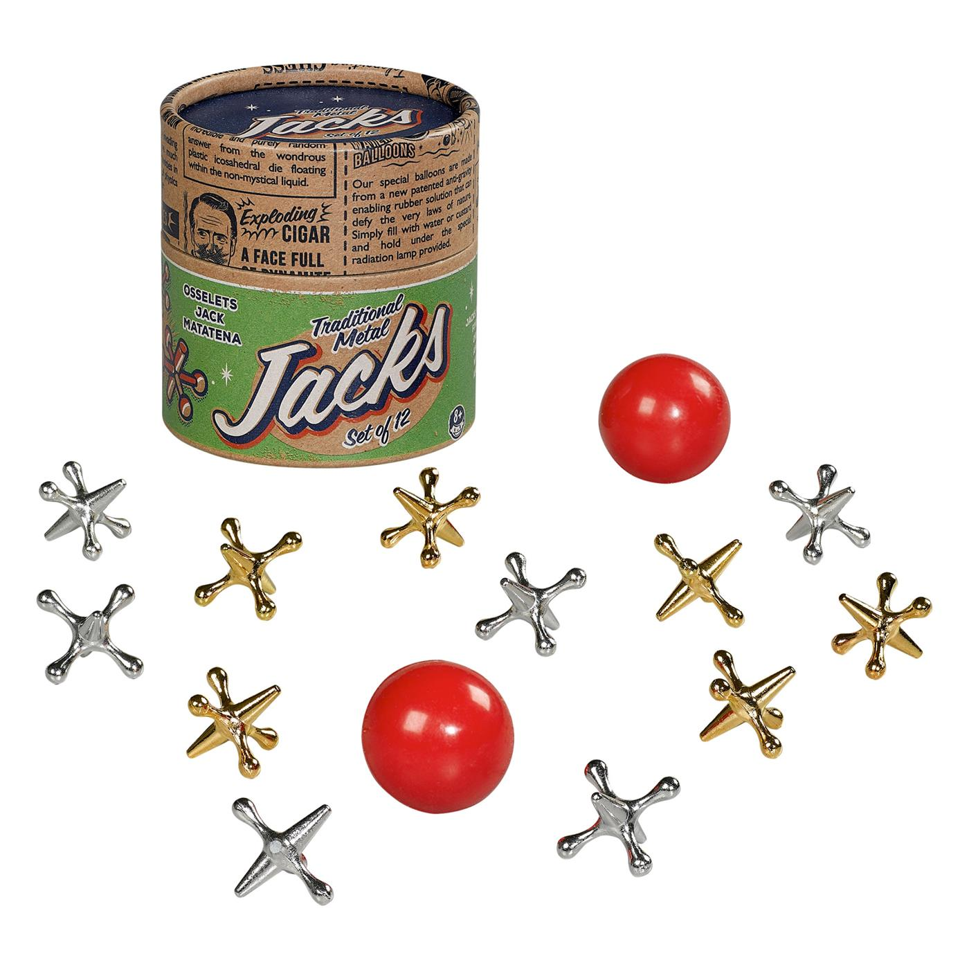 RIDLEY'S Retro Vintage Metal Jacks Novelty Game