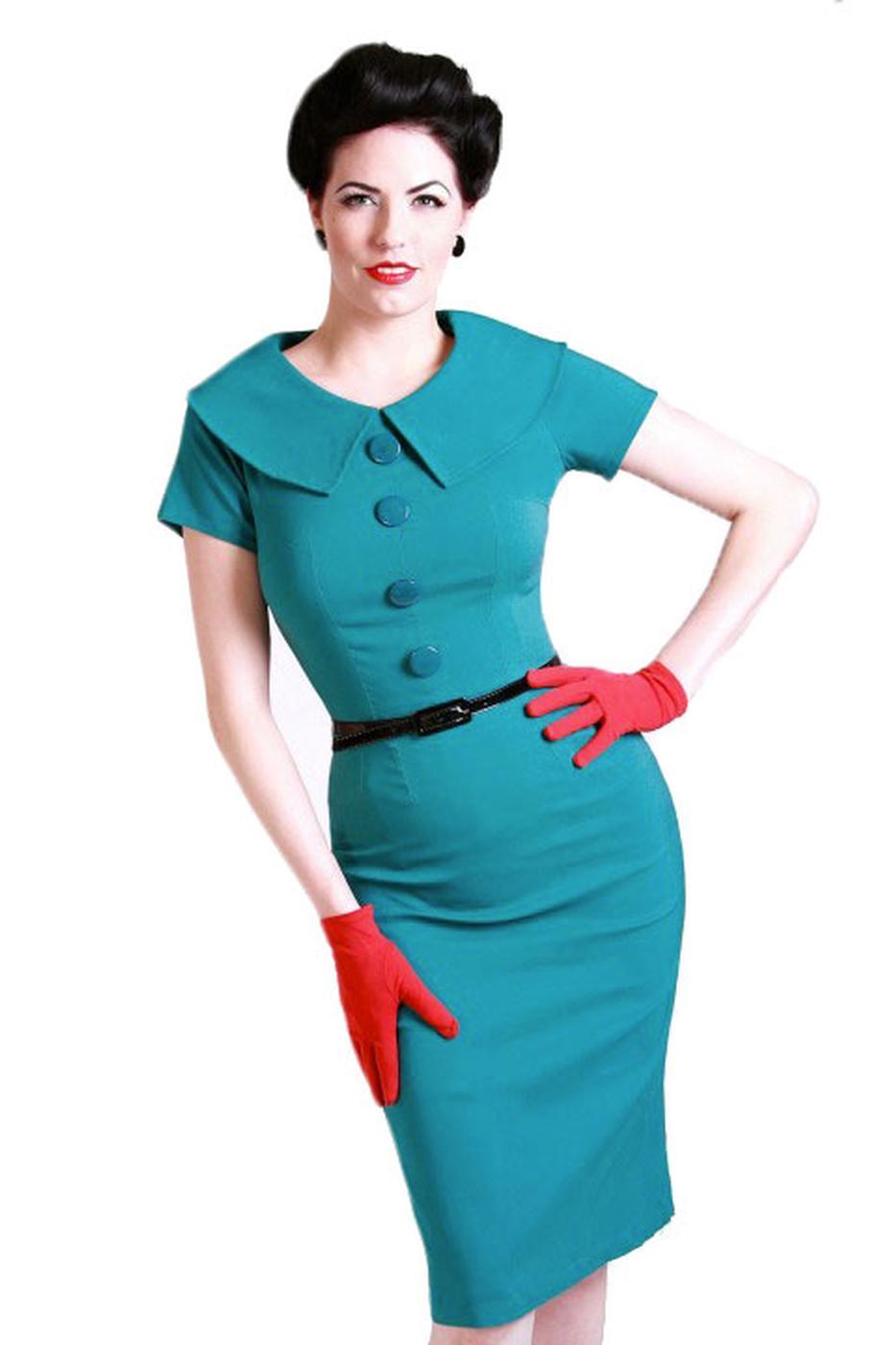 Rita TATYANA Retro 50s Vintage Pencil Dress (T)
