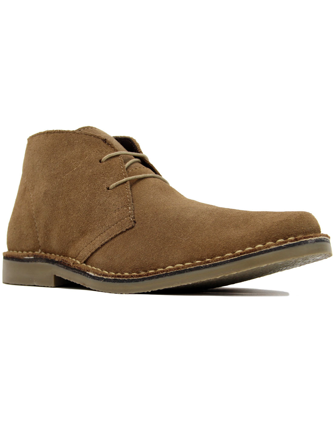 Double Dekker - Mens Mod Suede Desert Boots SAND