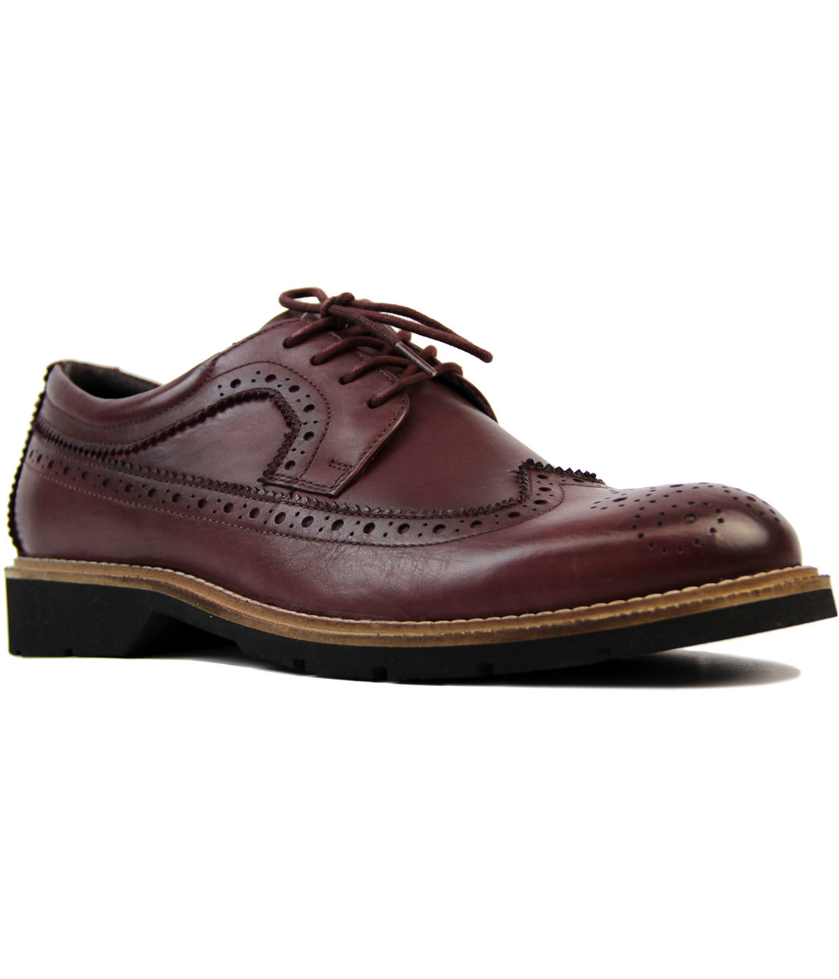 Harvard Retro Mod Wing Cap Brogue Gibson Shoes (O)