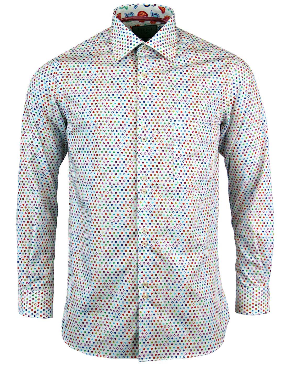 ROCOLA Retro Mini Mod Target Paisley trim Shirt