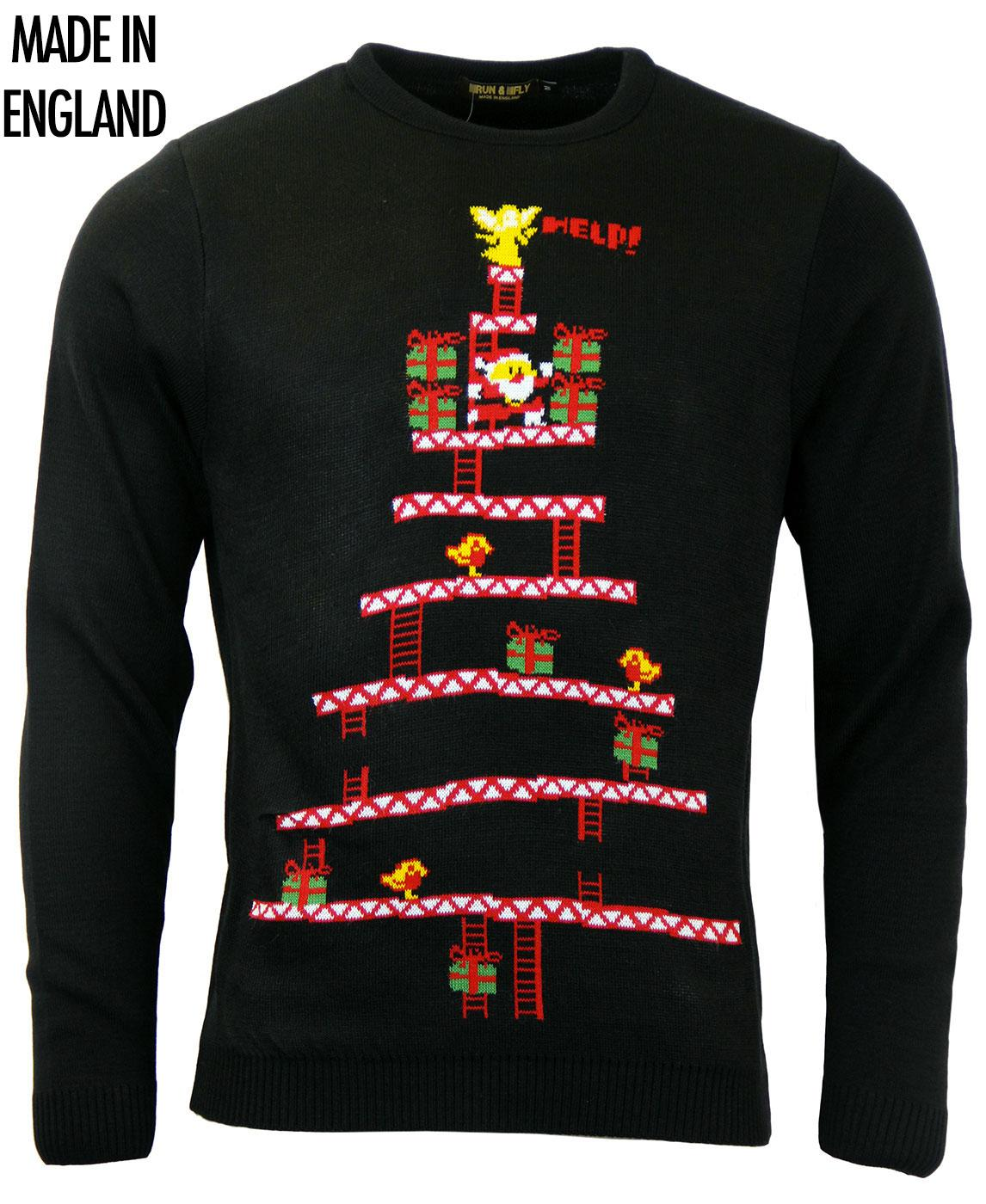 Santa Kong RUN & FLY Retro Christmas Jumper