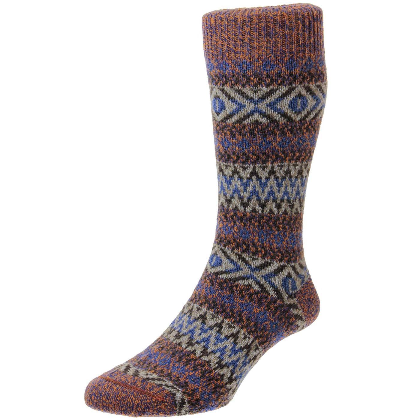 + Farnborough SCOTT-NICHOL Fair Isle Socks (GM)