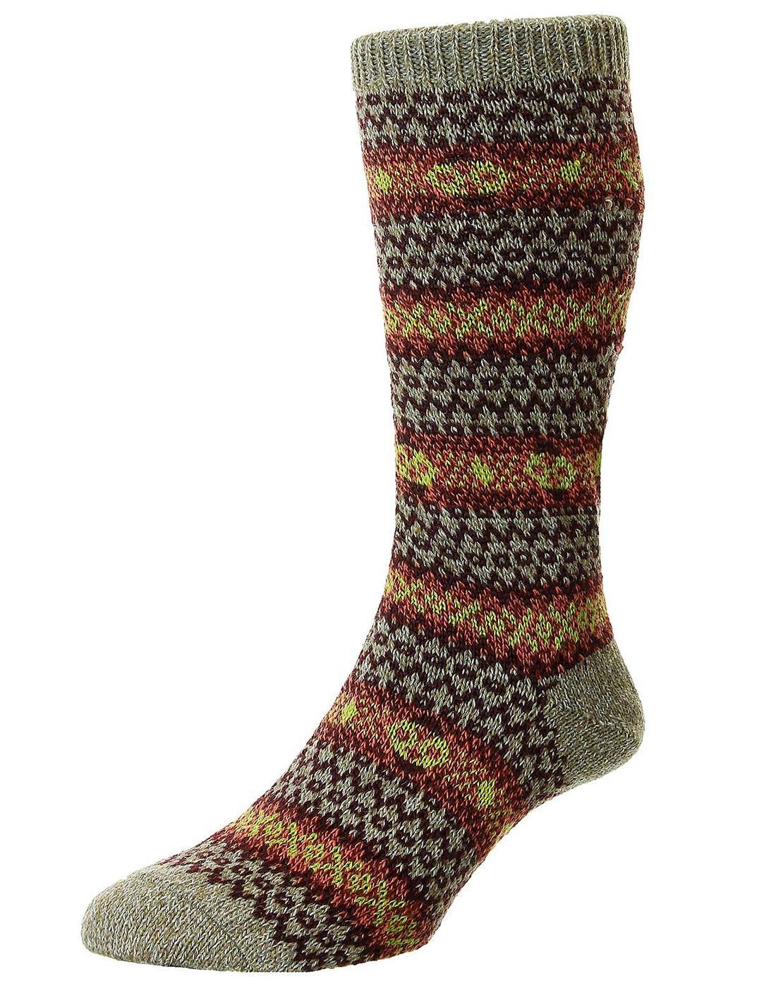 +Felbrigg SCOTT-NICHOL Country Fairisle Wool Socks