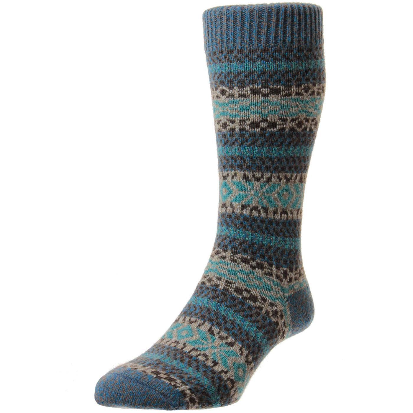 + Farne SCOTT-NICHOL Retro Fairisle Chunky Sock P