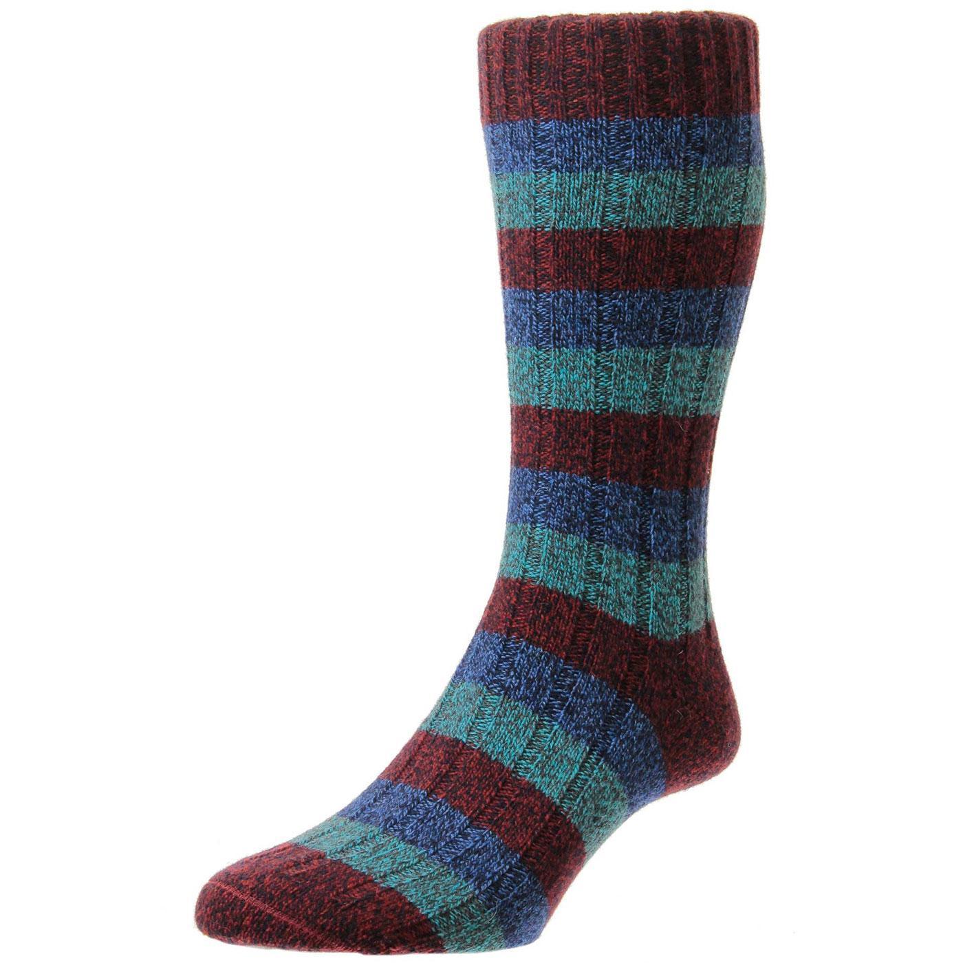 + Riddlesden SCOTT-NICHOL Mens Chunky Knit Socks C