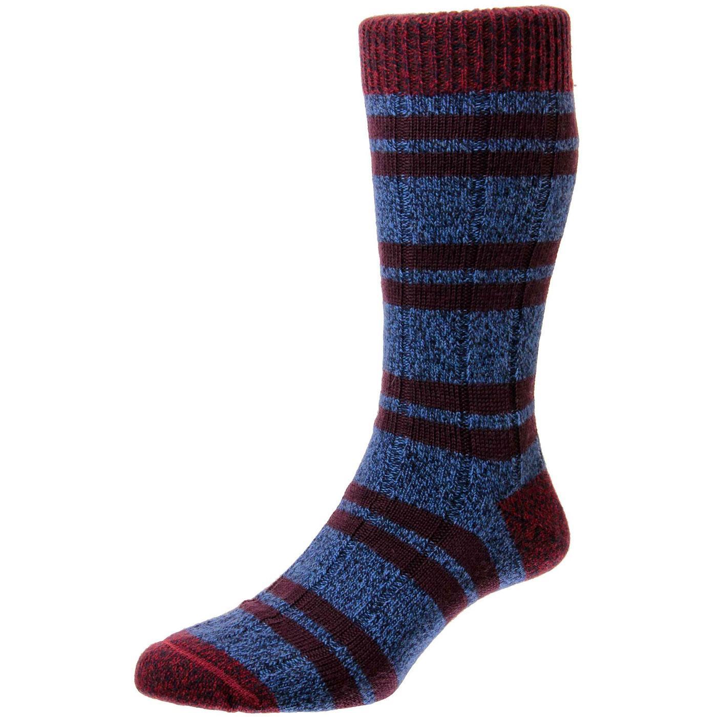 + Sudbury SCOTT-NICHOL Retro Stripe Wool Socks DM