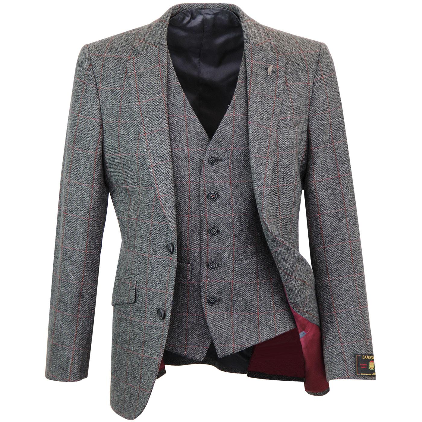 Mod Herringbone Windowpane Blazer & Waistcoat