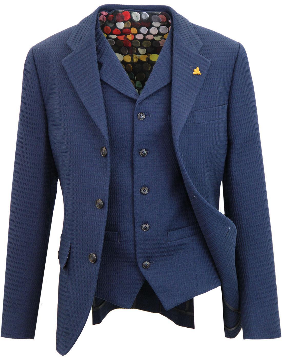 GIBSON LONDON Matching Mod Navy Blazer & Waistcoat