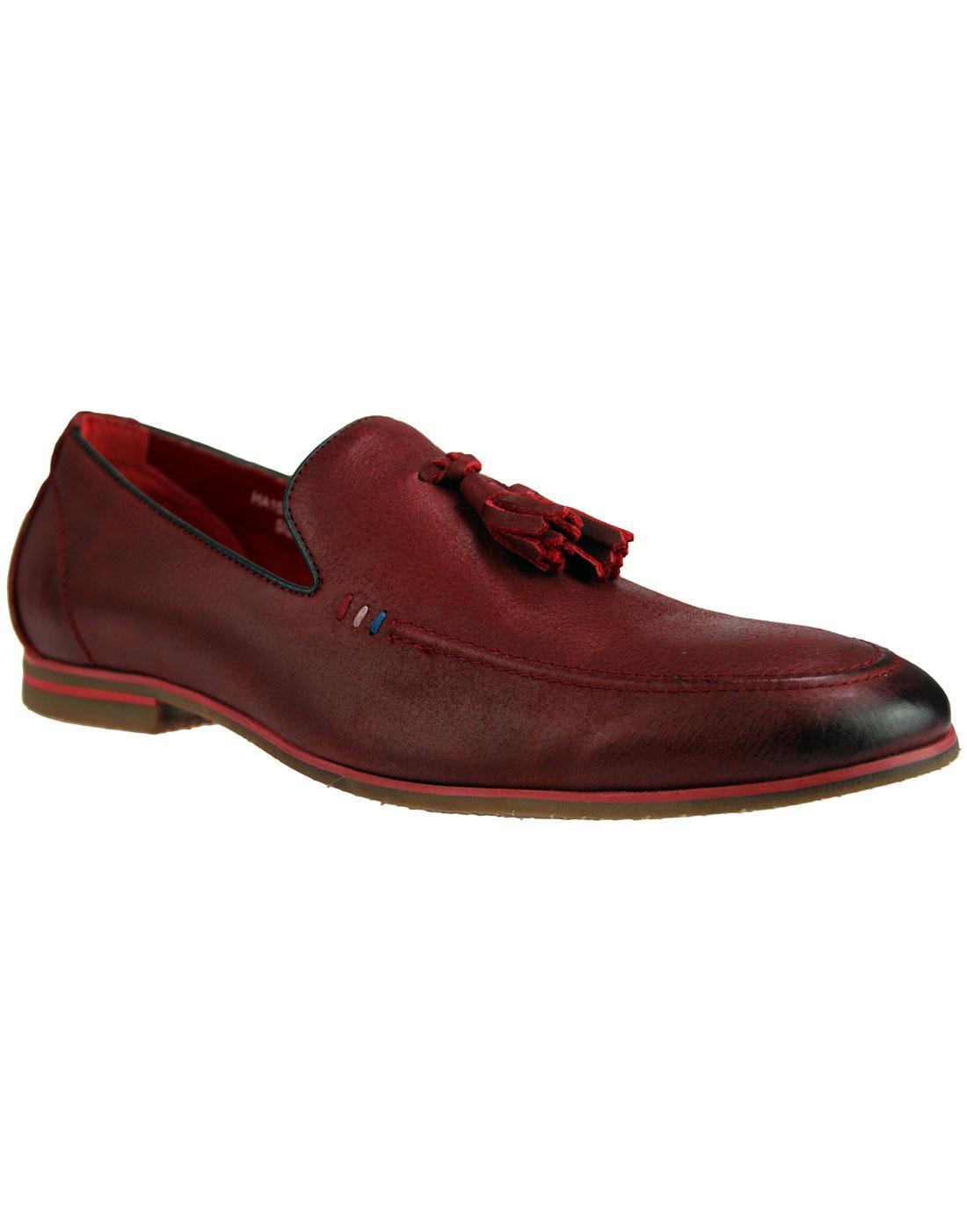 Rene SERGIO DULETTI Leather Tassel loafers WINE