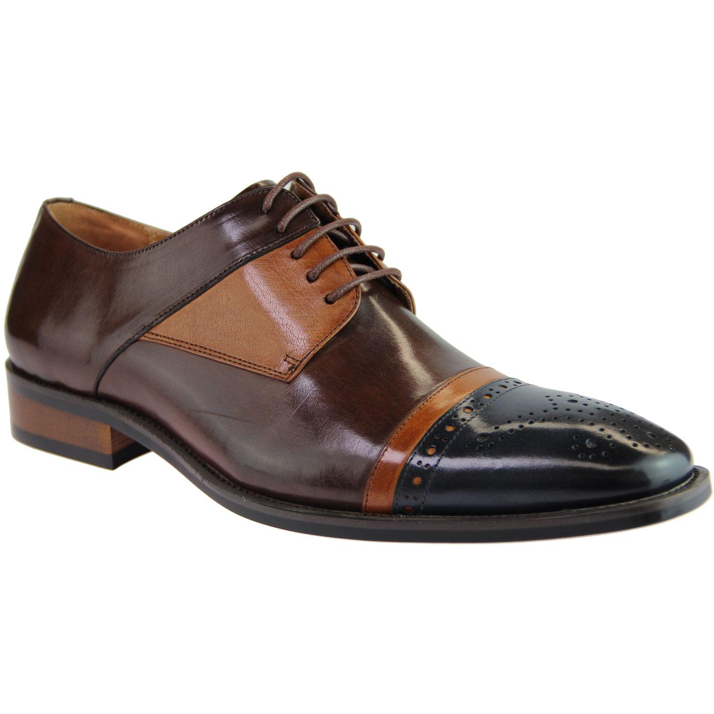 Ronald SERGIO DULETTI 60s Mod Oxford Brogues NAVY