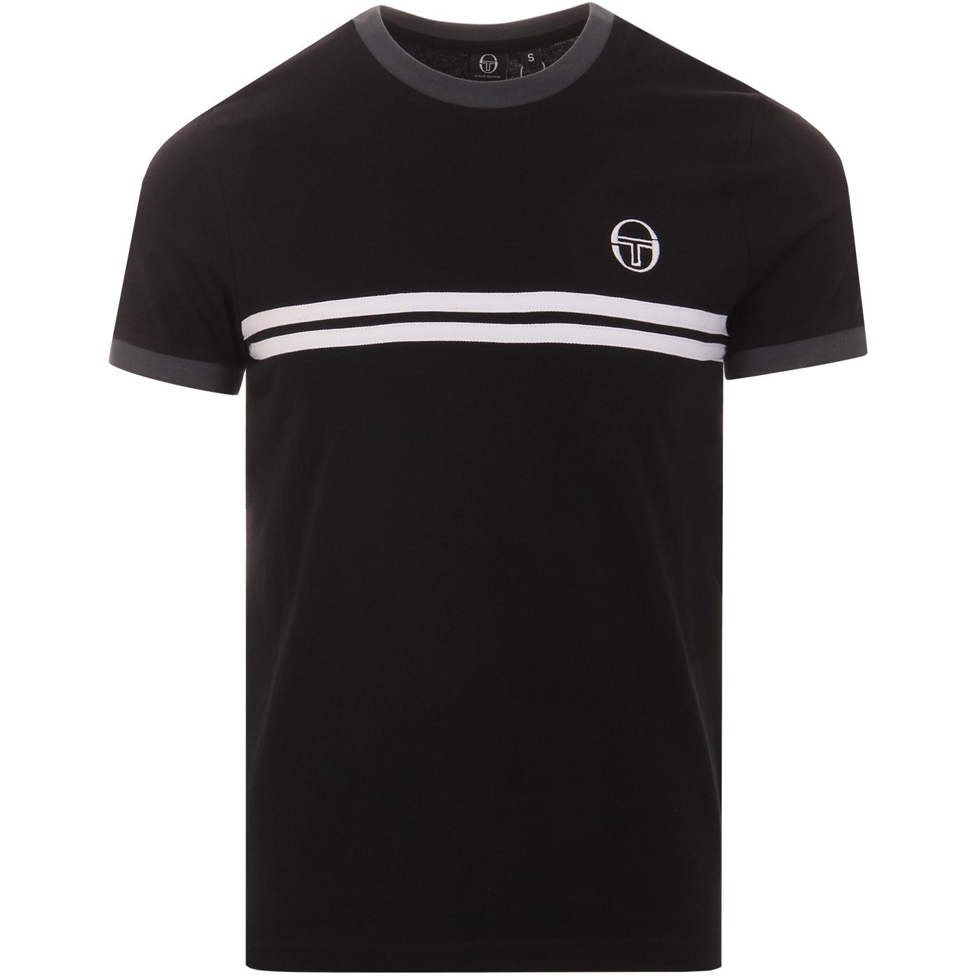Supermac 3 SERGIO TACCHINI Retro Stripe Tee BLACK