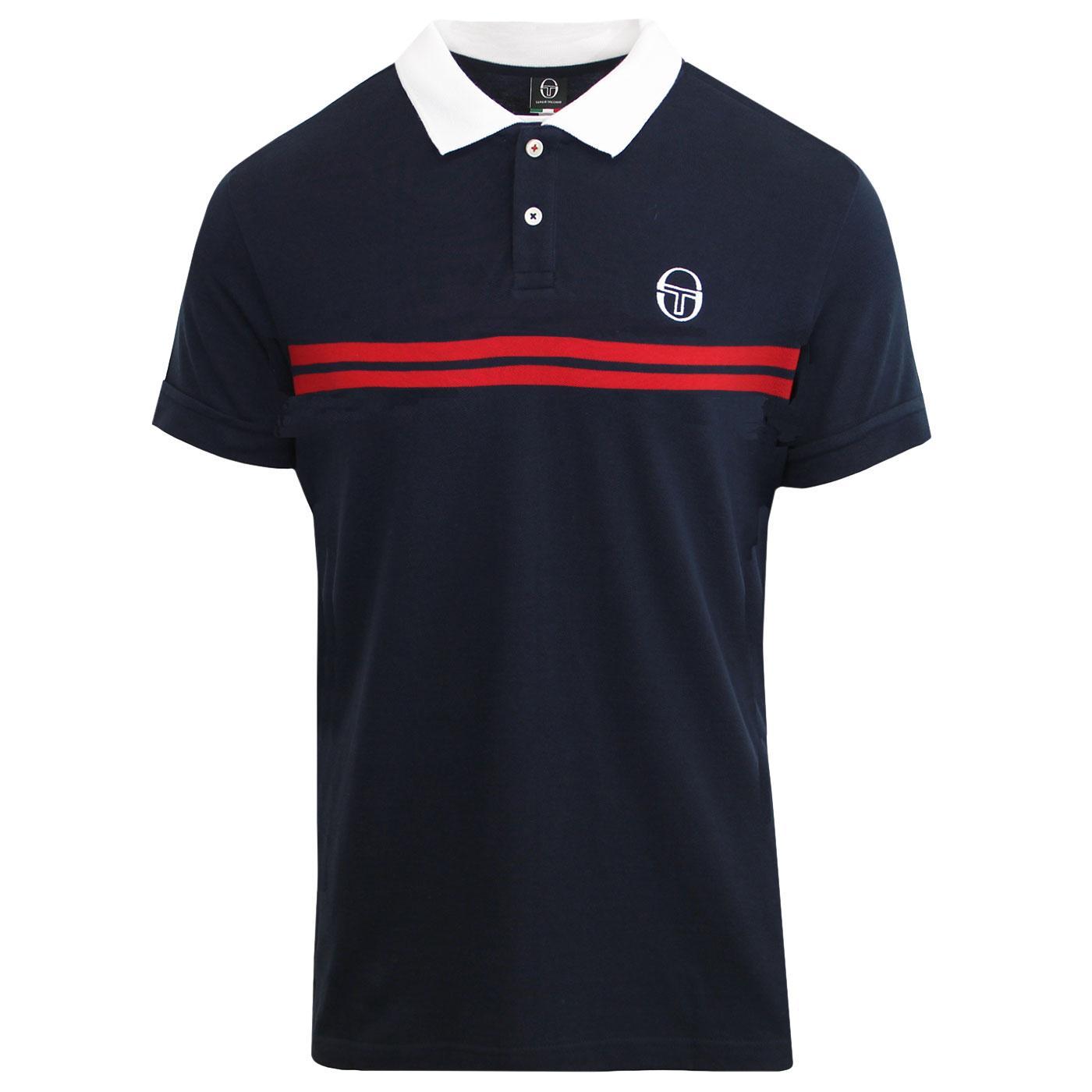 Supermac SERGIO TACCHINI Retro 80s Polo Shirt NAVY
