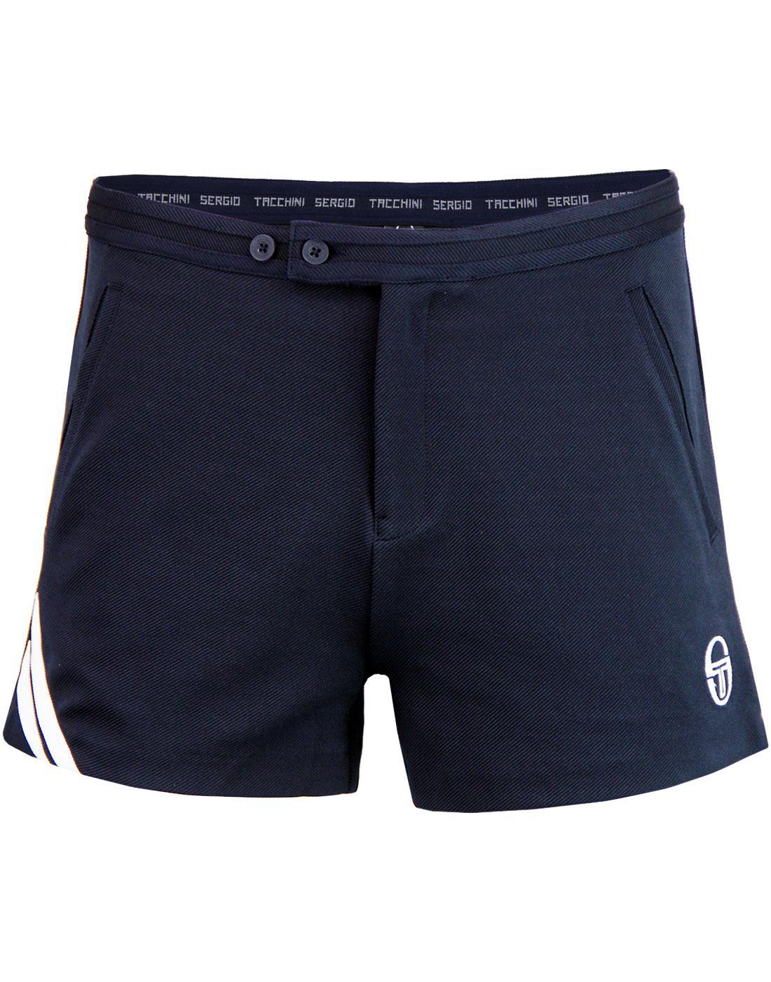 09edd62113f47 SERGIO TACCHINI 'Time' Retro 70's Tennis Shorts in Navy