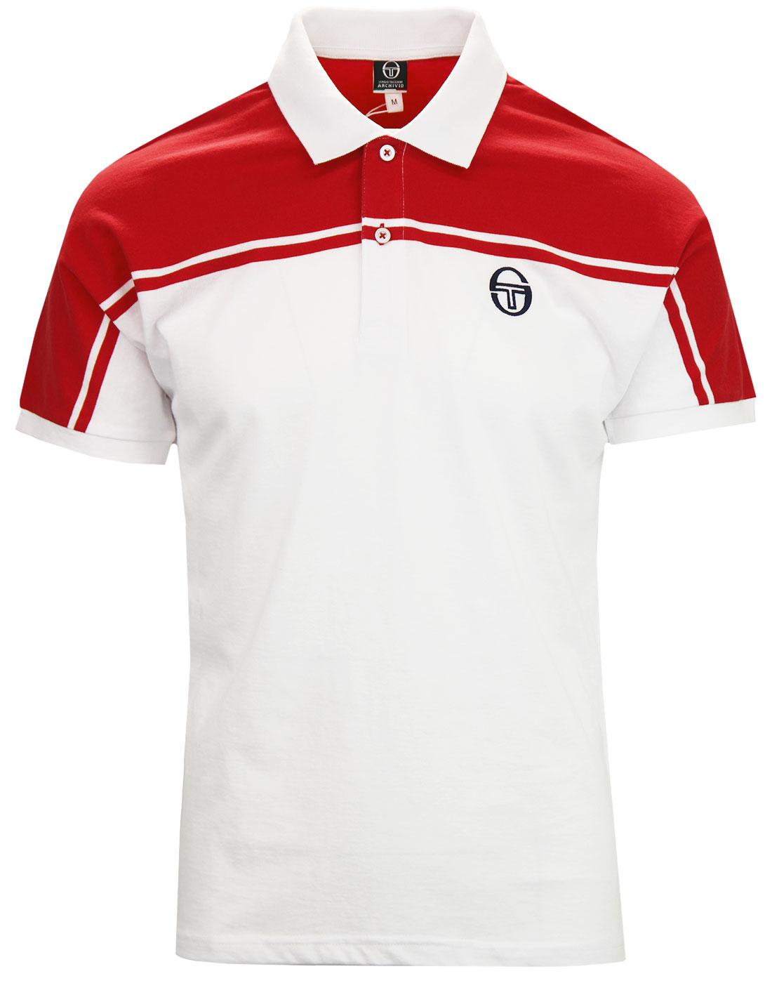 New Young Line SERGIO TACCHINI Retro 80s Polo RED