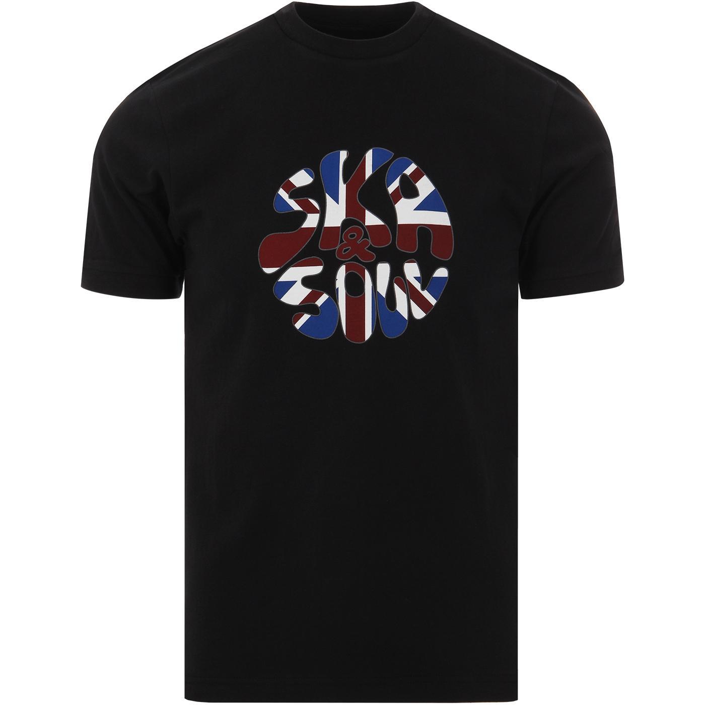 SKA & SOUL Men's Retro Union Jack Flag Logo Tee