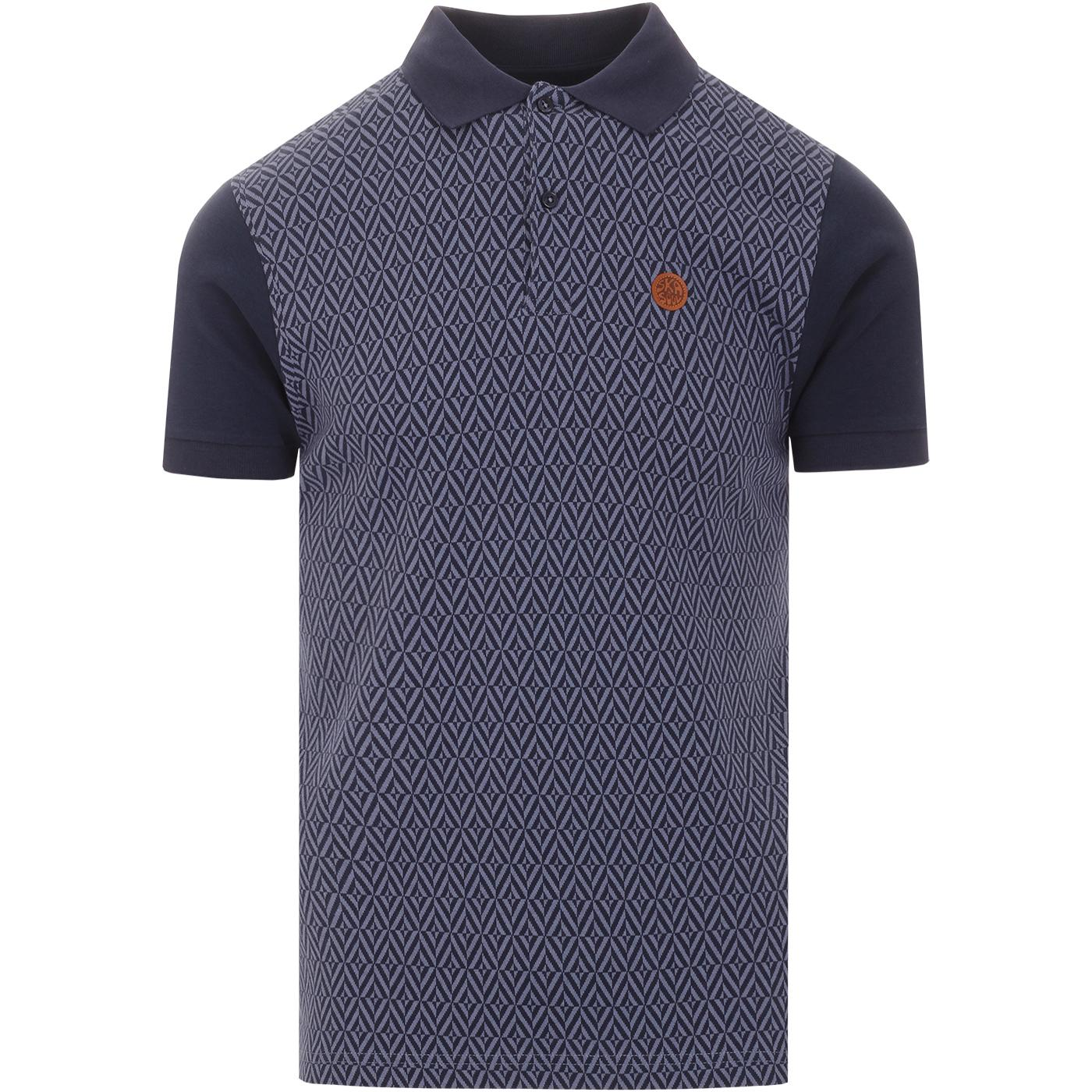 SKA & SOUL 60s Mod Herringbone Check Polo Top (N)