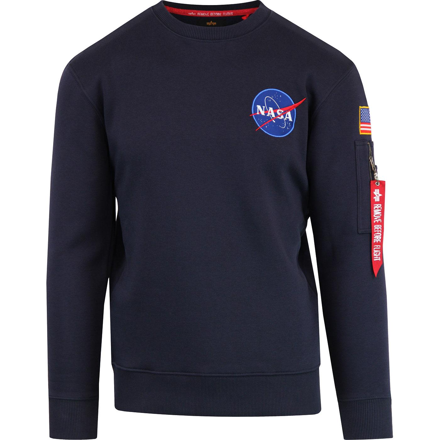 65a4fa2a2 ALPHA INDUSTRIES NASA Space Shuttle Sweater in Blue