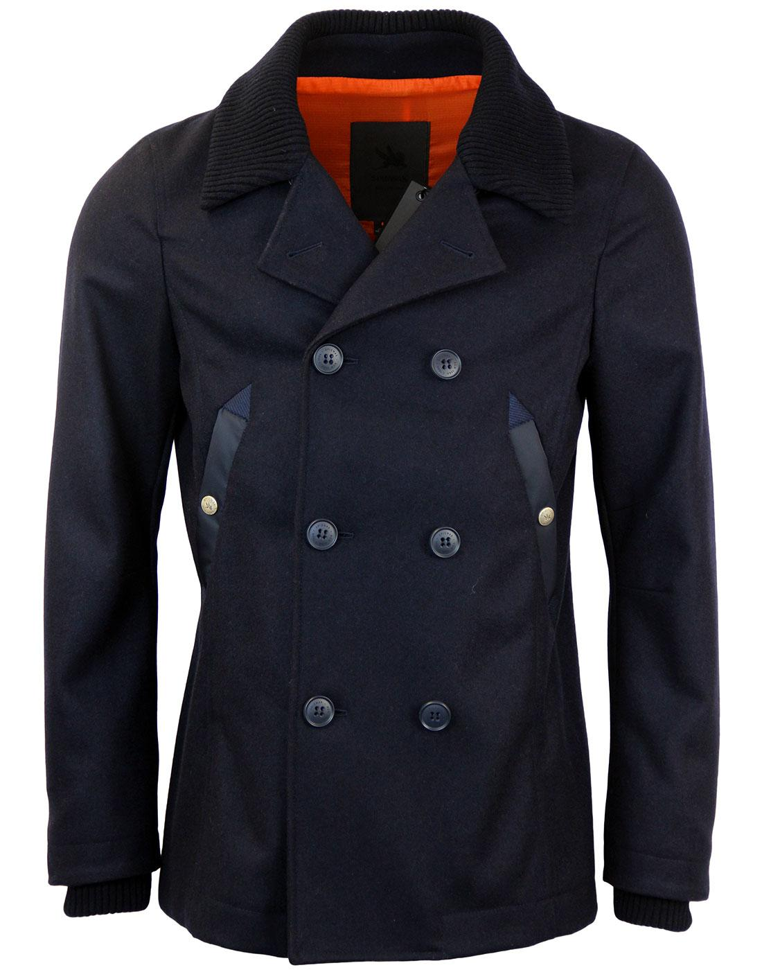 SPIEWAK Mod Wool Military Double Breasted Peacoat