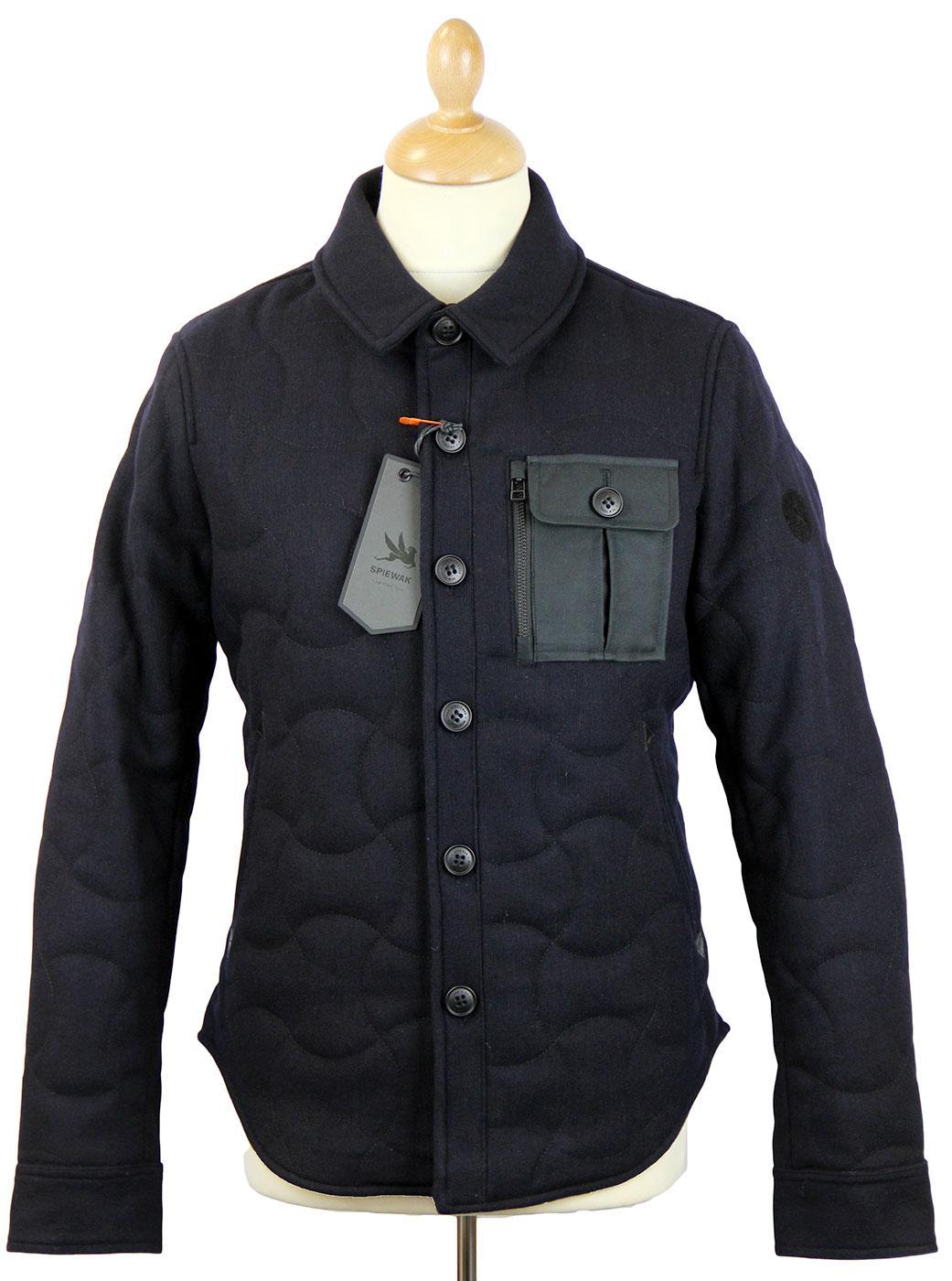 SPIEWAK Quilted CPO Retro Mod Melton Short Jacket