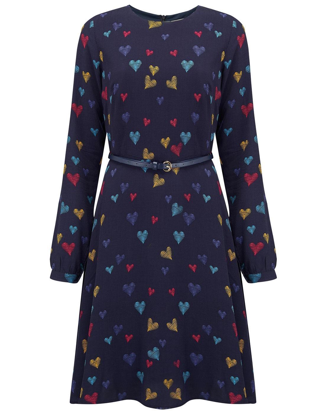 Darcy SUGARHILL BOUTIQUE Scribble Hearts 60s Dress