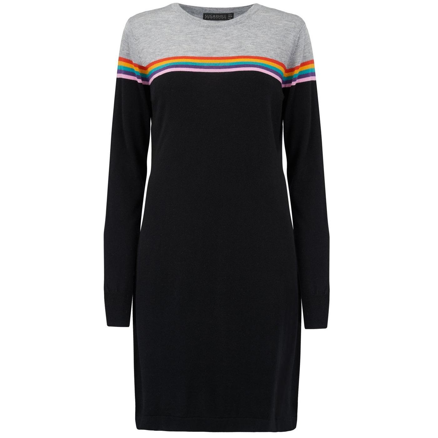 Evie Rainbow SUGARHILL BOUTIQUE Knit Dress Black