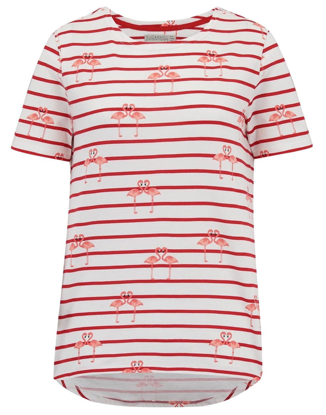 Cara SUGARHILL BOUTIQUE Retro Flamingo Print Tee