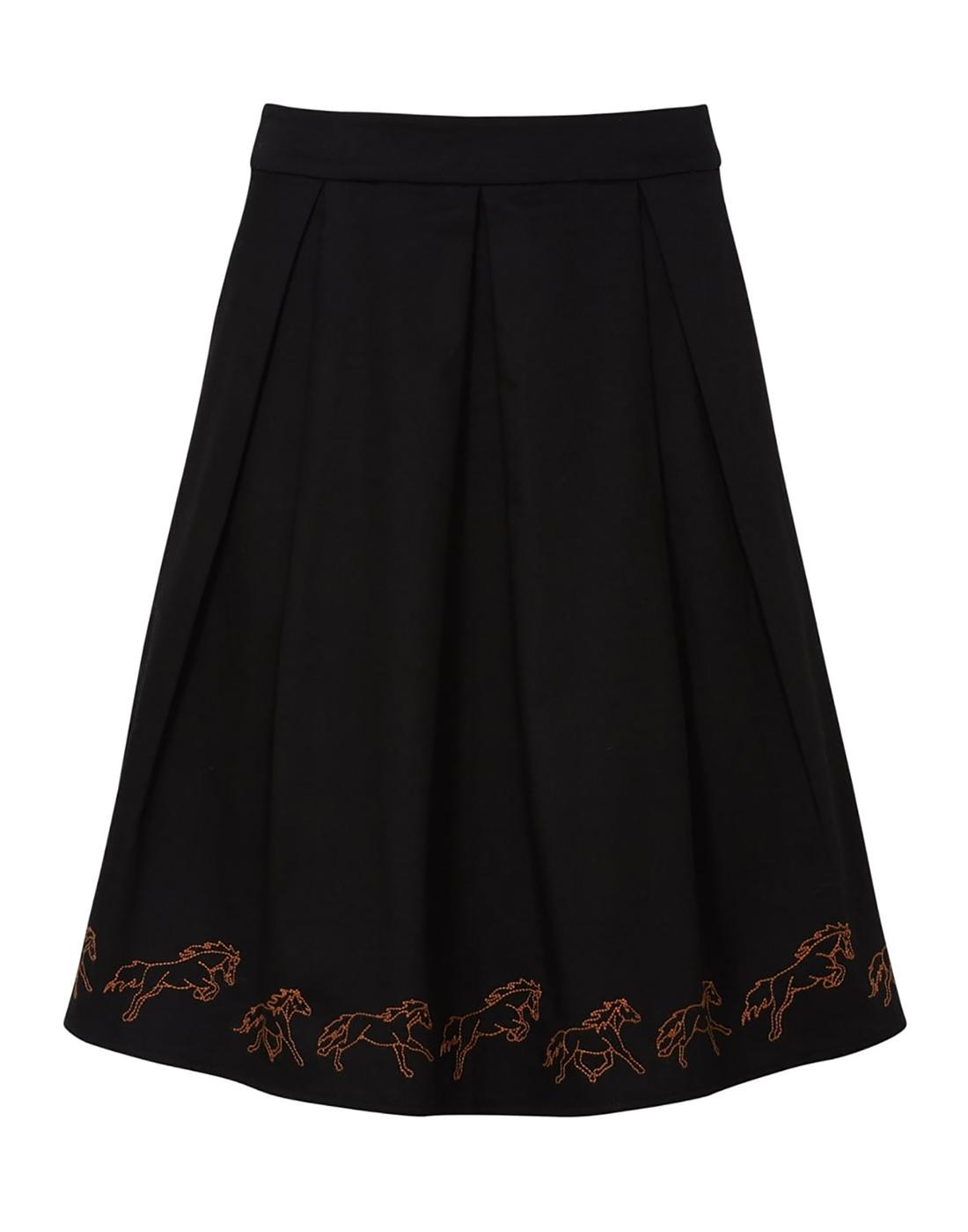 Fiona SUGARHILL BOUTIQUE Retro Horses Midi Skirt