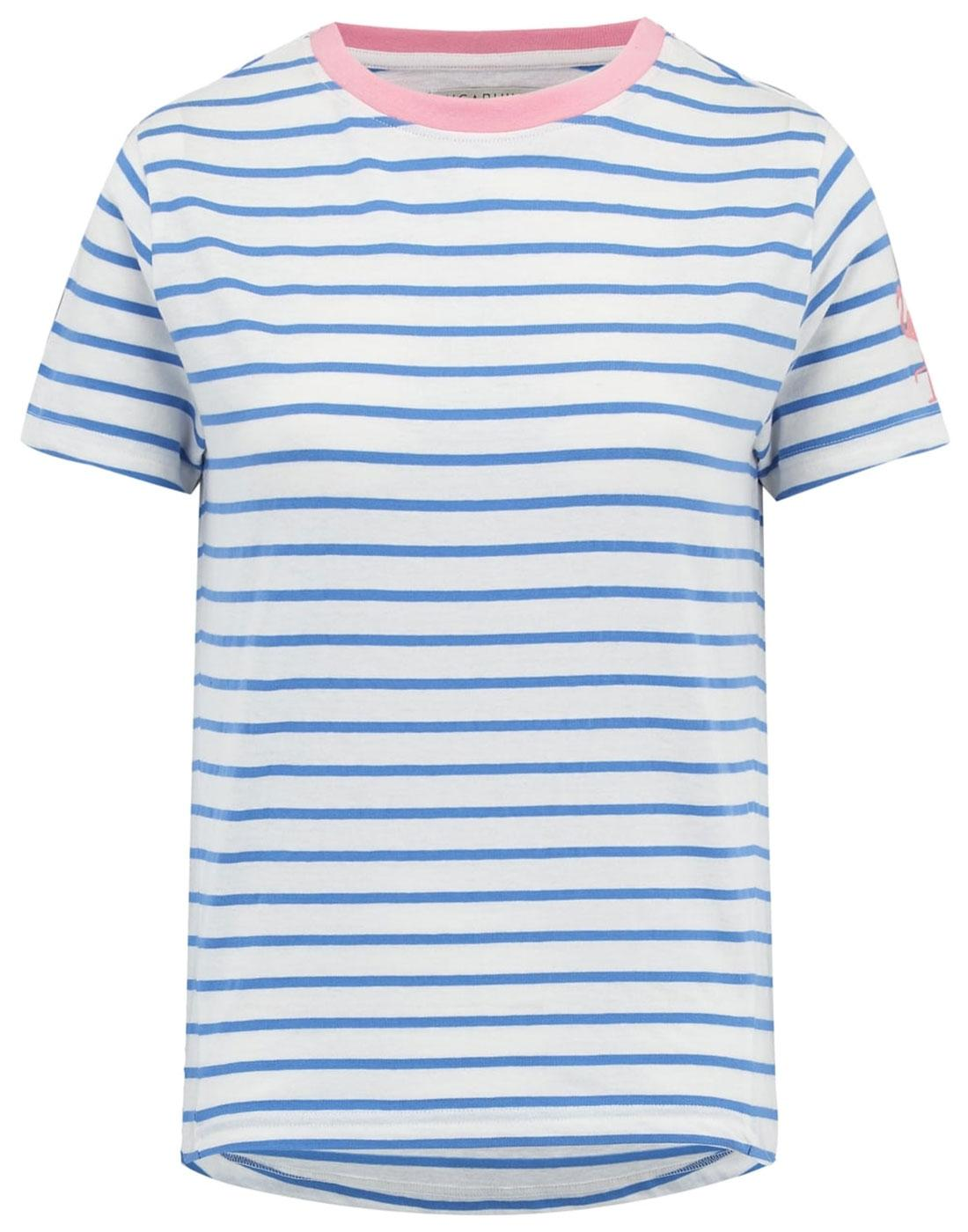 Mimi SUGARHILL BOUTIQUE Retro Flamingo Stripe Tee