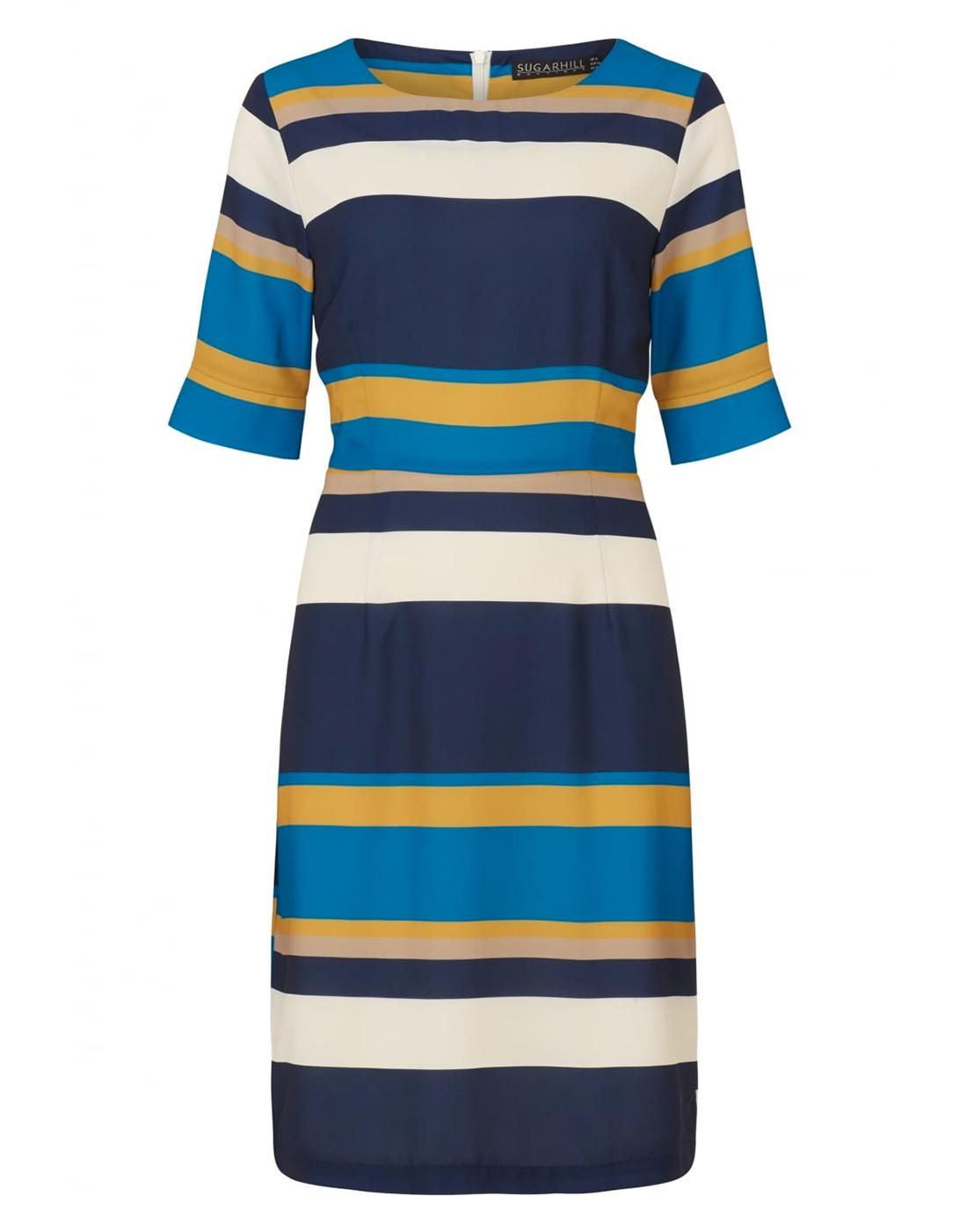 Harper SUGARHILL BOUTIQUE Retro Striped Dress