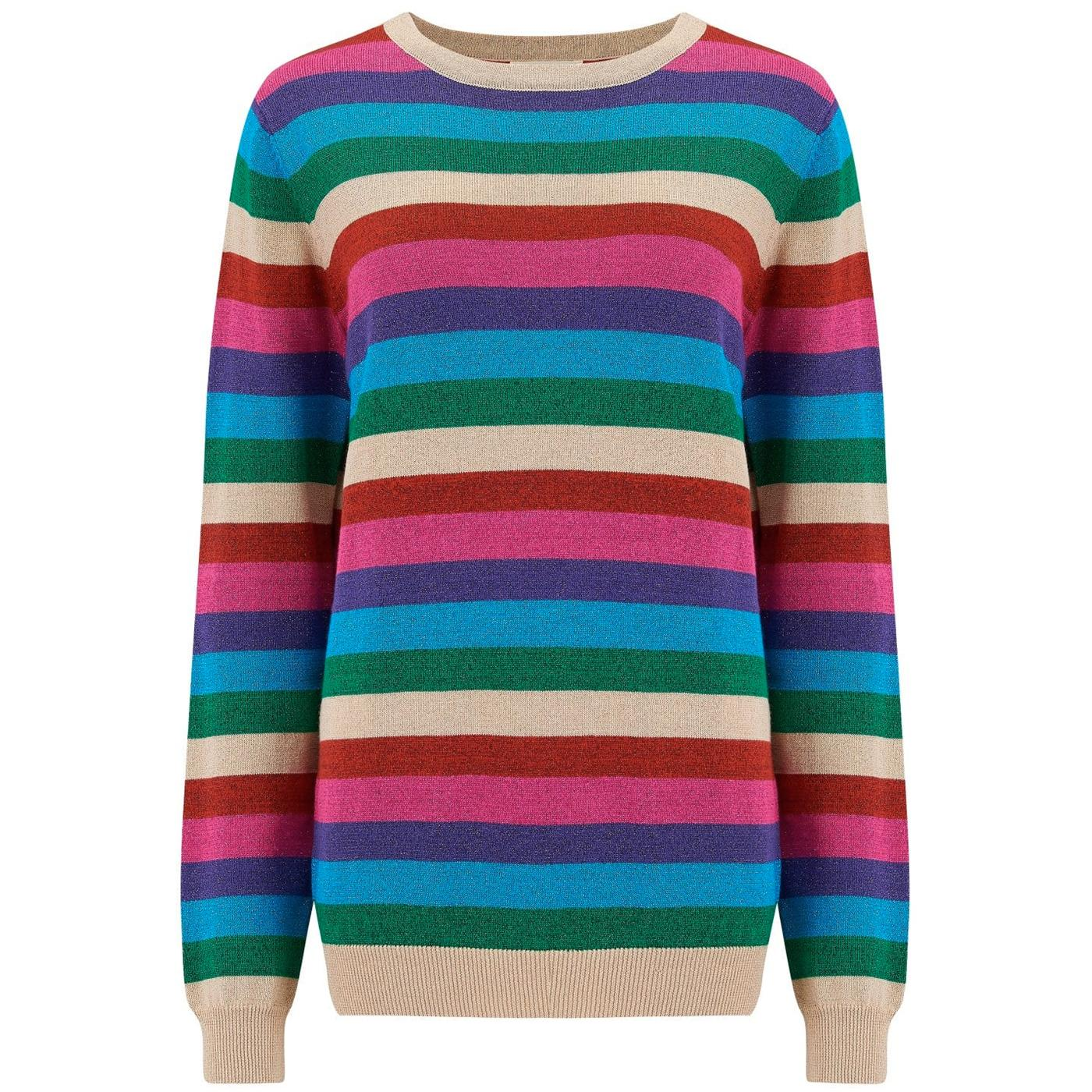 Alex SUGARHILL BRIGHTON 80s Rainbow Lurex Sweater