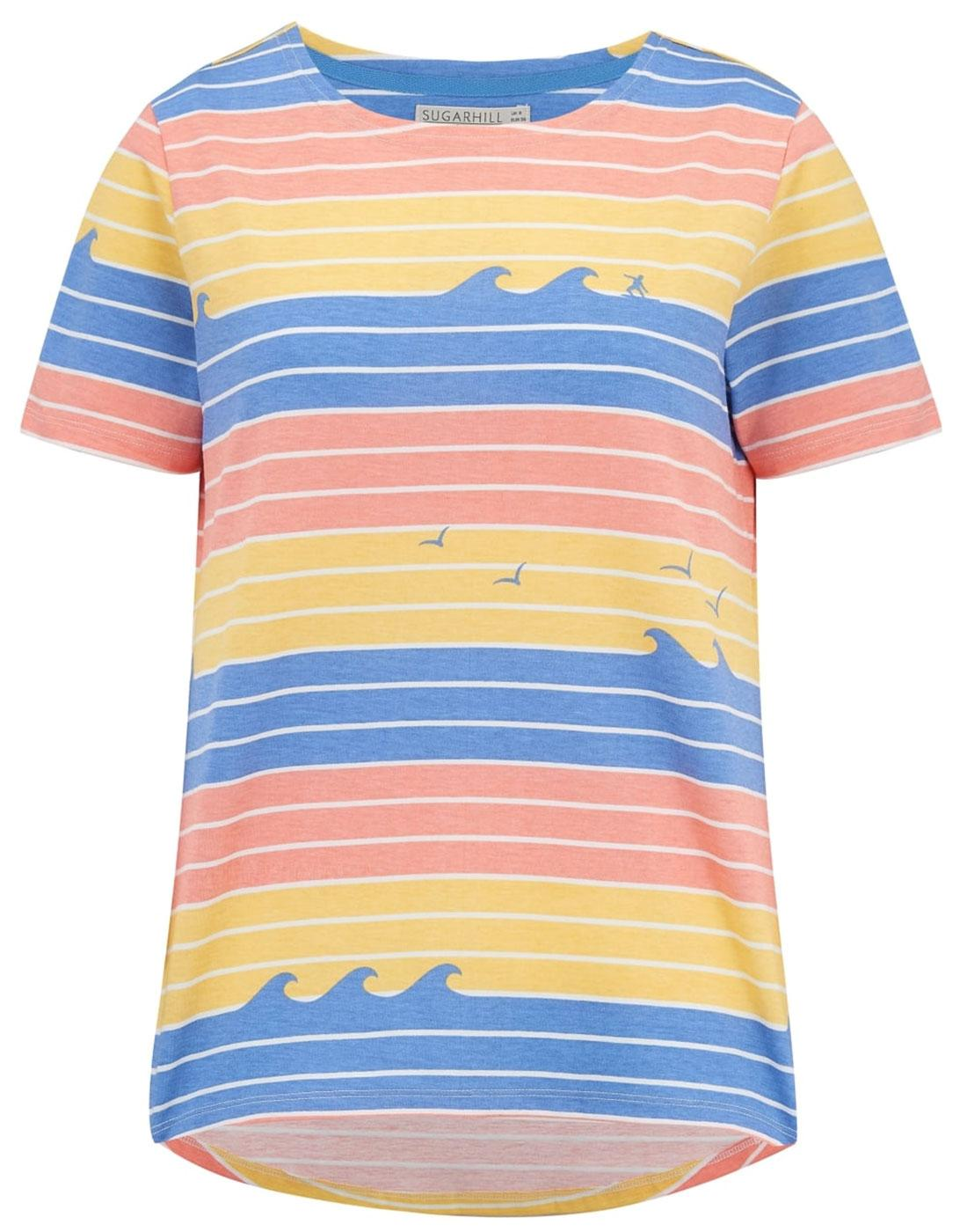 Cara SUGARHILL BOUTIQUE Retro Sunset Waves Tee