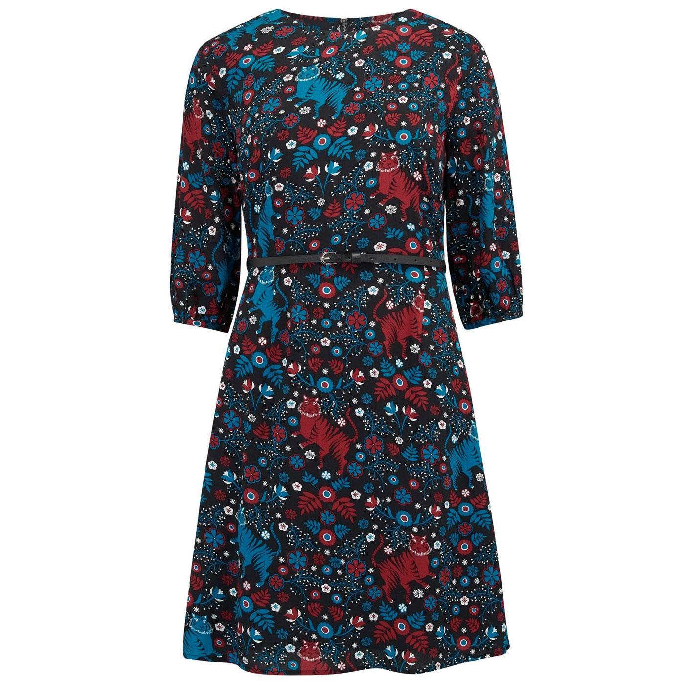 Cate Tiger Folk Art SUGARHILL BOUTIQUE Dress Black