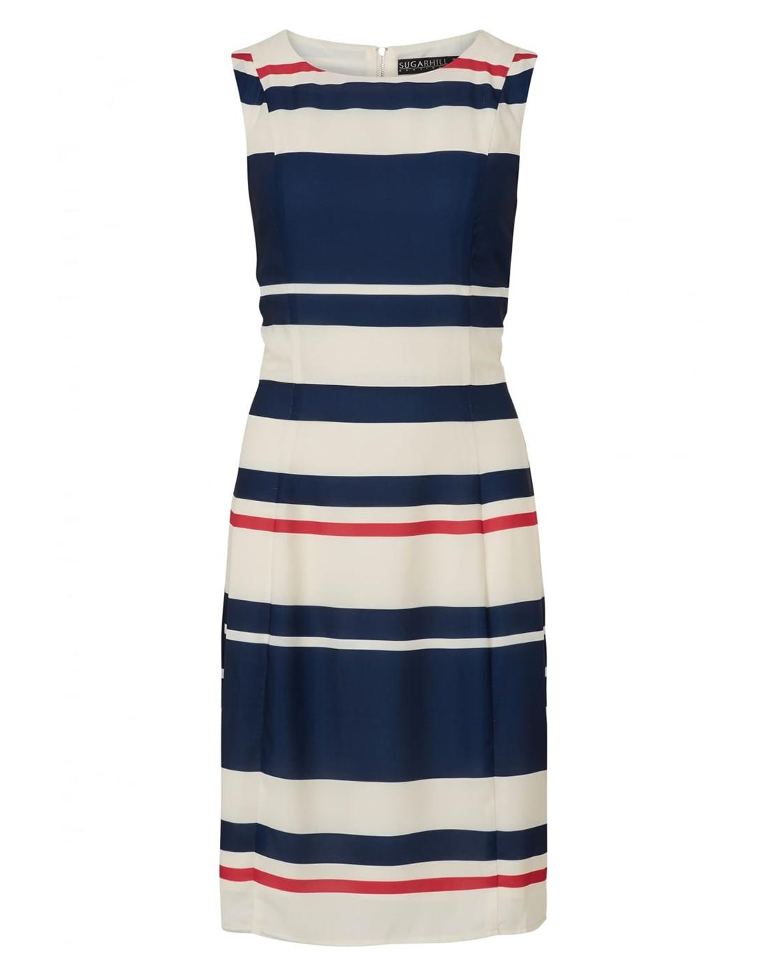 Eliza SUGARHILL BOUTIQUE Retro Striped Shift Dress