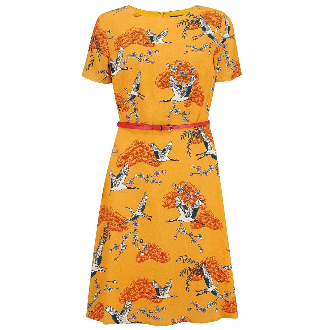 Ohara Birds SUGARHILL BOUTIQUE Dress In Mustard