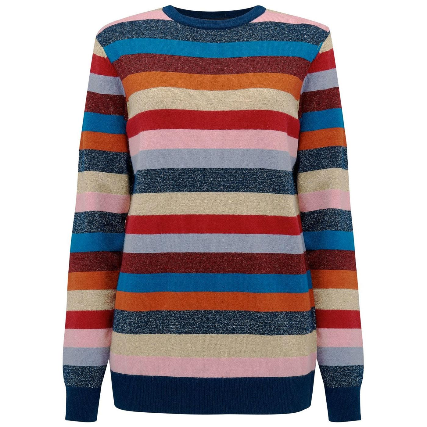 Poppy SUGARHILL Women's 70s Rainbow Stripe Sweater